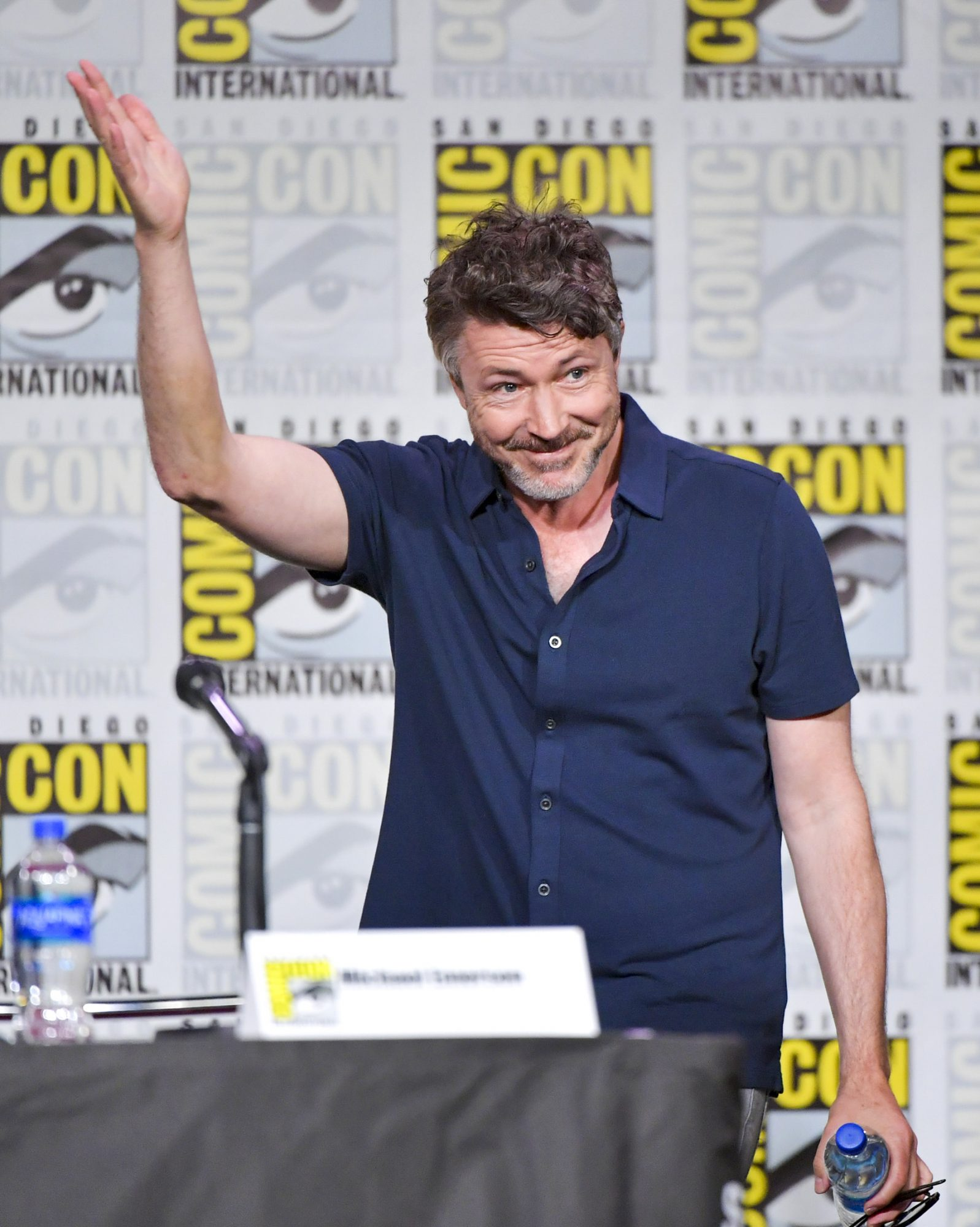 SAN DIEGO, CALIFORNIA - JULY 19: Aidan Gillen speaks onstage during Entertainment Weekly: Brave Warriors at San Diego Convention Center on July 19, 2019 in San Diego, California. (Photo by Amy Sussman/Getty Images)