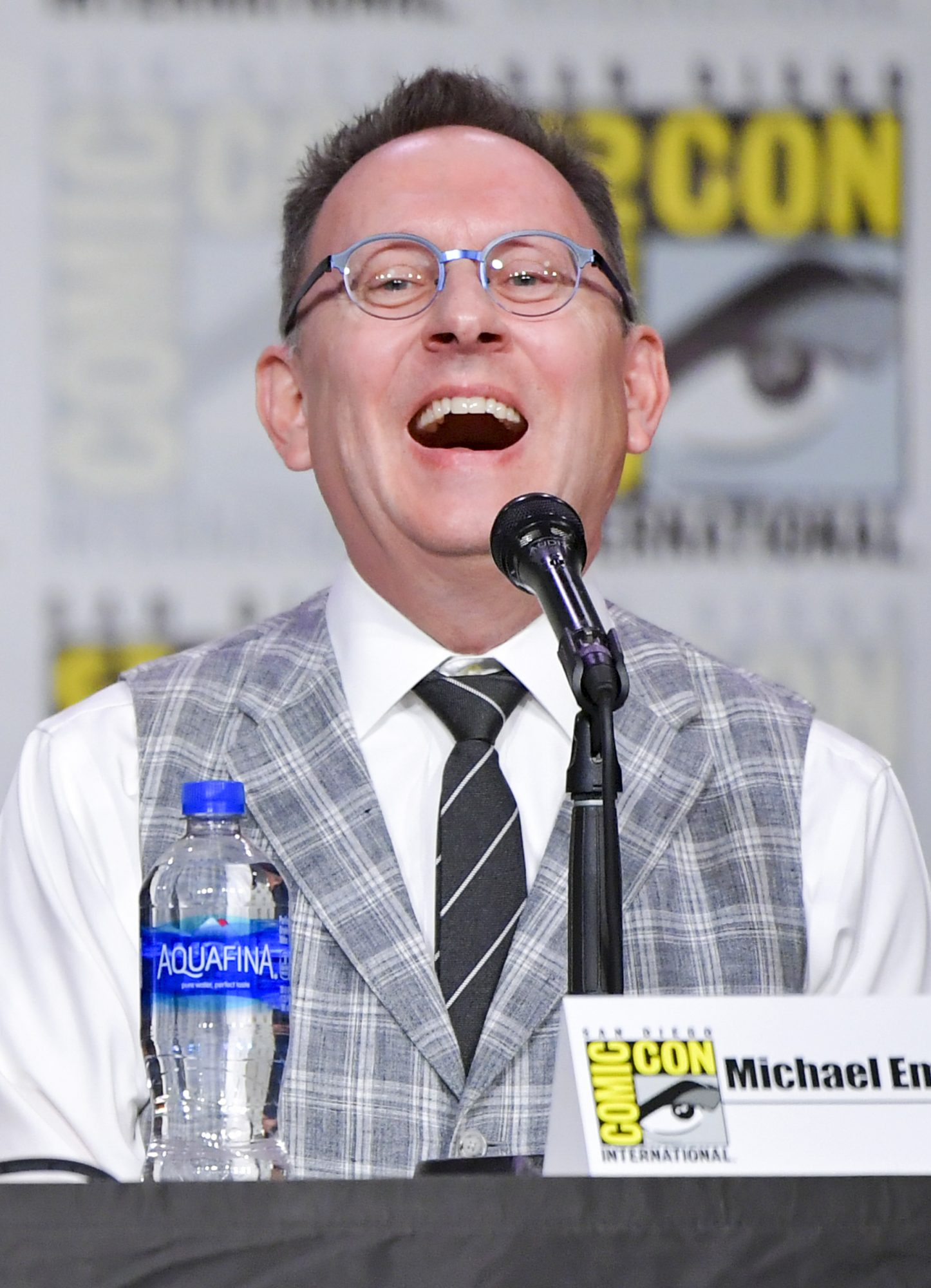 SAN DIEGO, CALIFORNIA - JULY 19: Michael Emerson speaks onstage during Entertainment Weekly: Brave Warriors at San Diego Convention Center on July 19, 2019 in San Diego, California. (Photo by Amy Sussman/Getty Images)