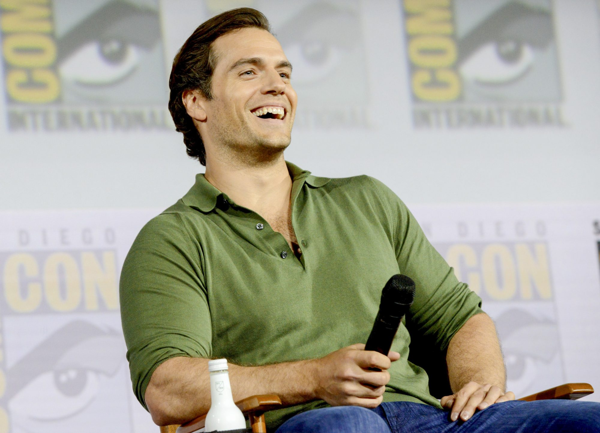 """SAN DIEGO, CALIFORNIA - JULY 19: Henry Cavill attends """"The Witcher"""": A Netflix Original Series Panel during 2019 Comic-Con International at San Diego Convention Center on July 19, 2019 in San Diego, California. (Photo by Albert L. Ortega/Getty Images)"""