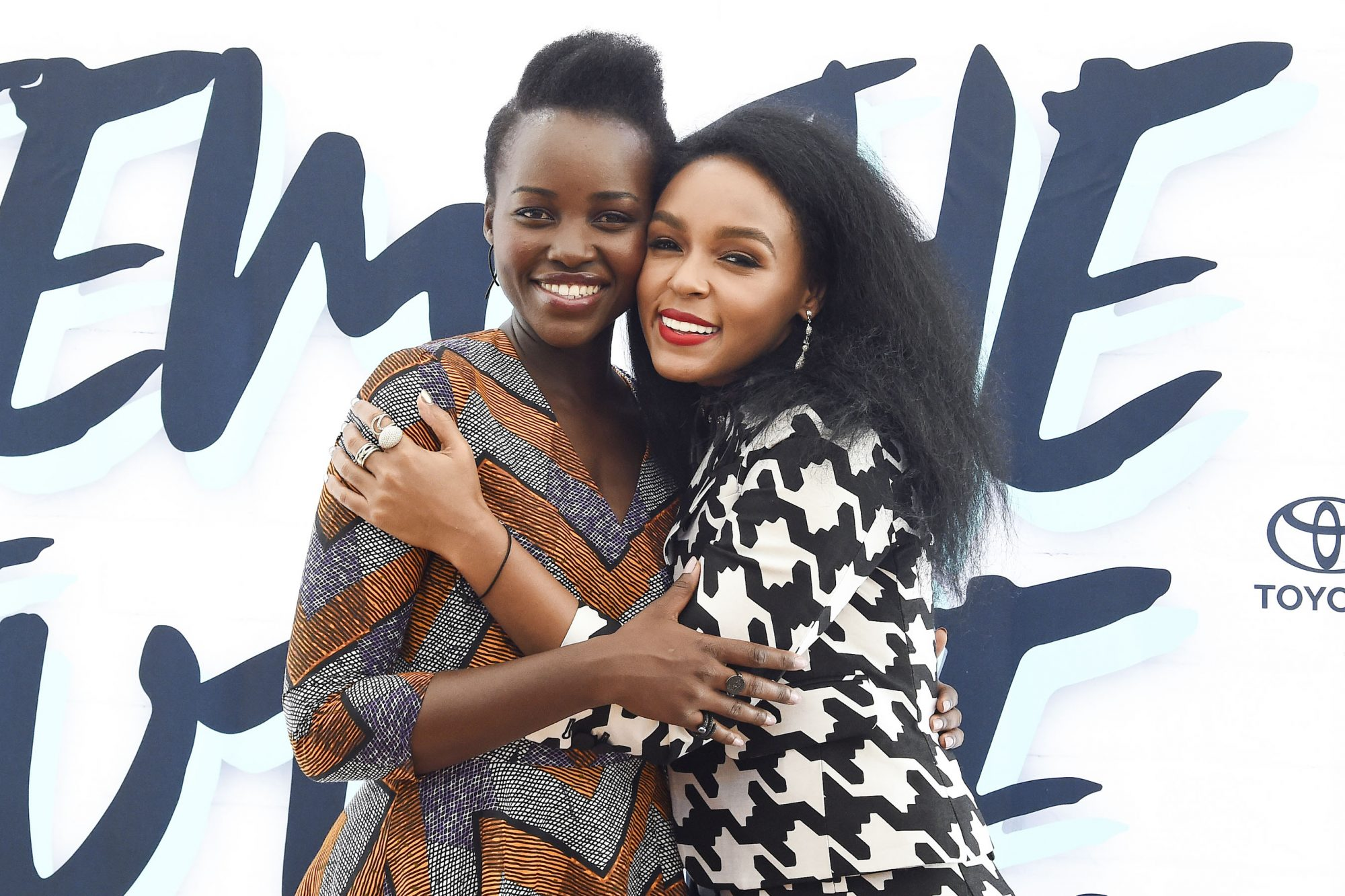 NEW YORK, NY - AUGUST 27: Lupita Nyong'o and Janelle Monae attend Fem The Future Brunch sponsored by Toyota on August 27, 2016 in New York City. (Photo by Ilya S. Savenok/Getty Images)