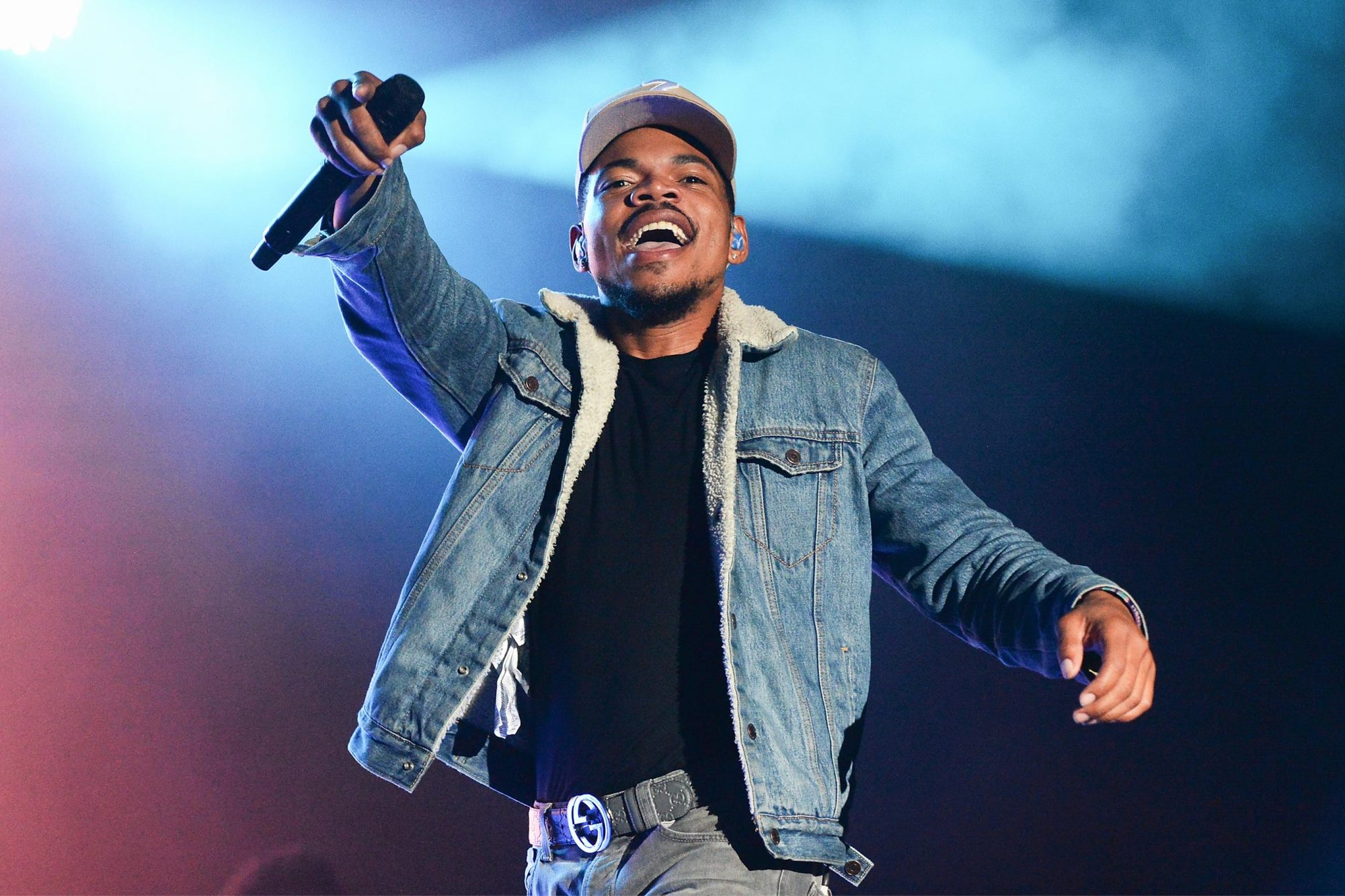DOVER, DE - JUNE 17: Chance the Rapper performs onstage during the 2017 Firefly Music Festival on June 17, 2017 in Dover, Delaware. (Photo by Kevin Mazur/Getty Images for Firefly)