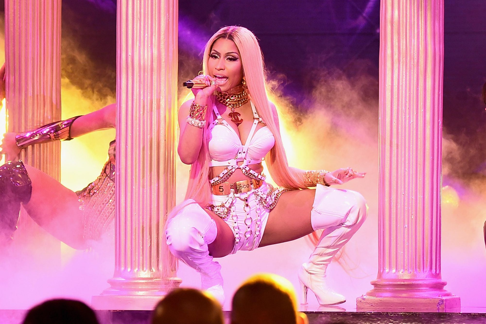 NEW YORK, NY - JUNE 26: Nicki Minaj performs on stage during the 2017 NBA Awards Live On TNT on June 26, 2017 in New York City. 27111_001 (Photo by Michael Loccisano/Getty Images for TNT )