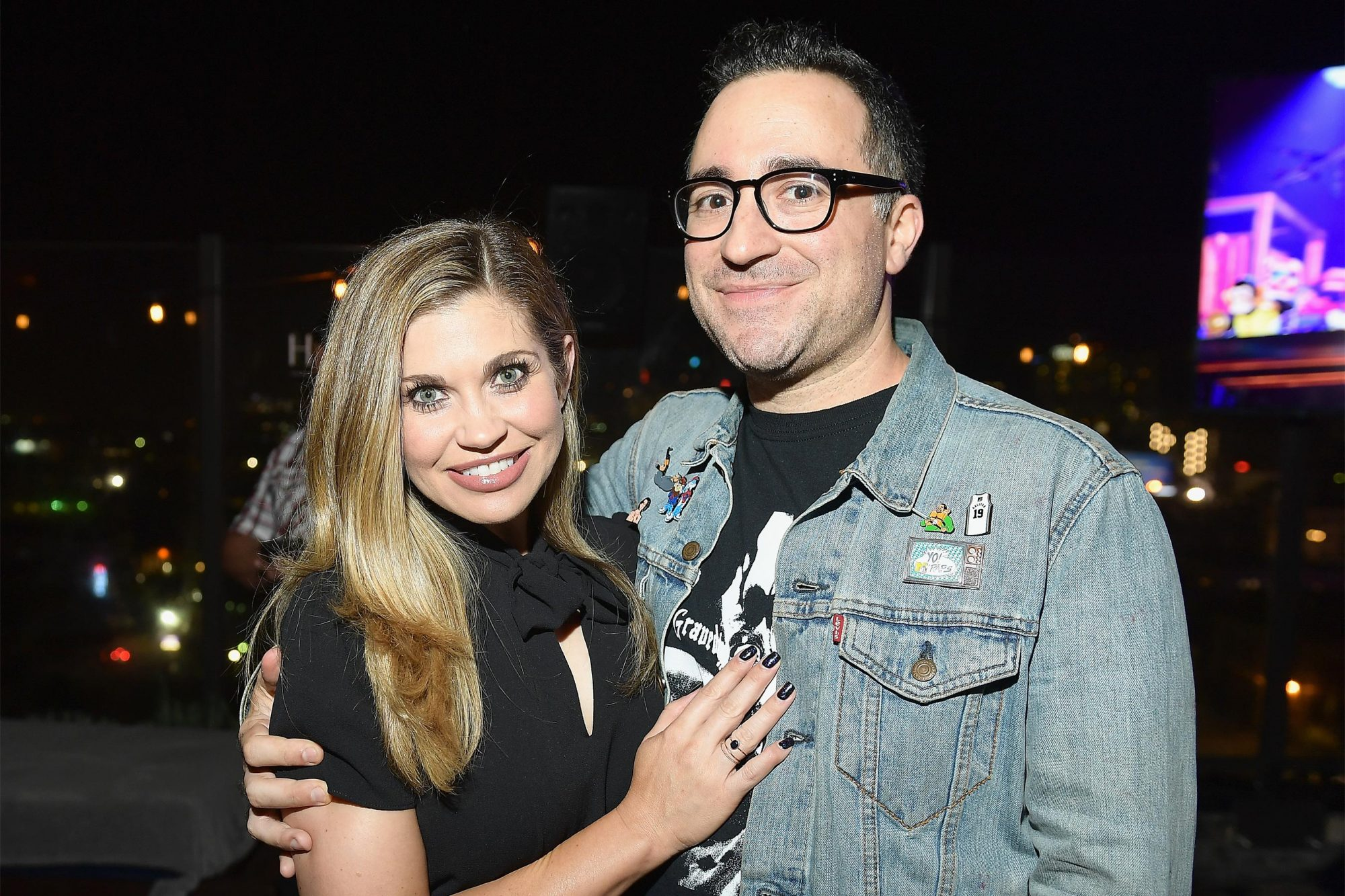 HOLLYWOOD, CA - OCTOBER 11: Danielle Fishel (L) and executive producer Jensen Karp at TBS' Drop the Mic and The Joker's Wild Premiere Party at Dream Hotel on October 11, 2017 in Hollywood, California. Shoot ID 26854_010 (Photo by Matt Winkelmeyer/Getty Images for TBS)