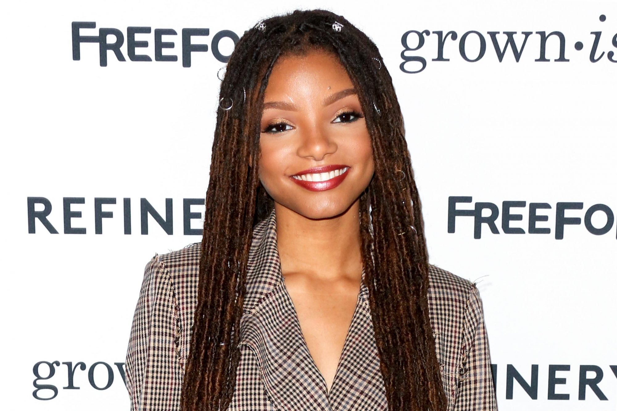 "HOLLYWOOD, CA - DECEMBER 13: Actress Halle Bailey attends the premiere of ABC's ""Grown-ish"" on December 13, 2017 in Hollywood, California. (Photo by Paul Archuleta/FilmMagic)"