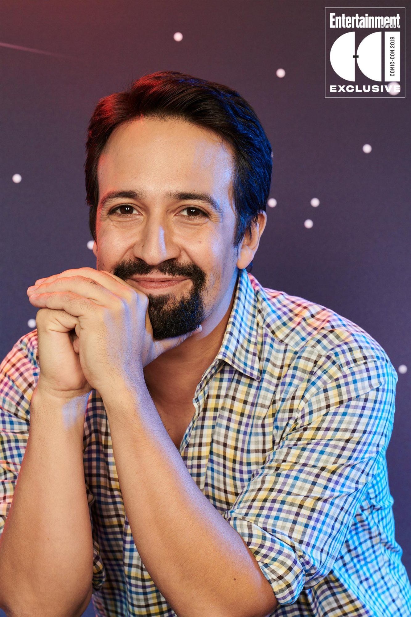 Day 1 - 2019 SDCC - San Diego Comic-con Lin-Manuel Miranda photographed in the Entertainment Weekly portrait studio during the 2019 San Diego Comic Con on July 18th, 2019 in San Diego, California. Photographed by: Eric Ray Davison Pictured: Lin-Manuel Miranda Film/Show: His Dark Materials