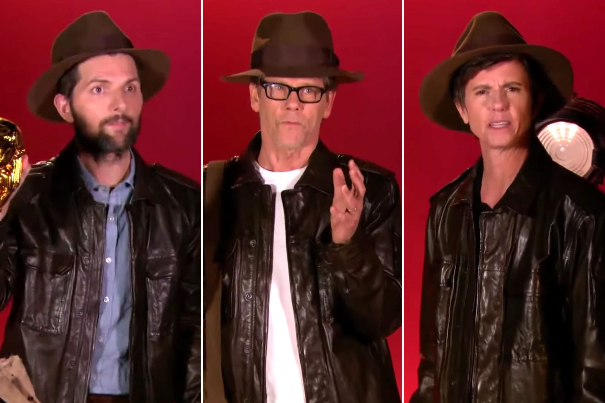 Indiana Jones Audition Tapes- Adam Scott, Kevin Bacon, Tig Notaro