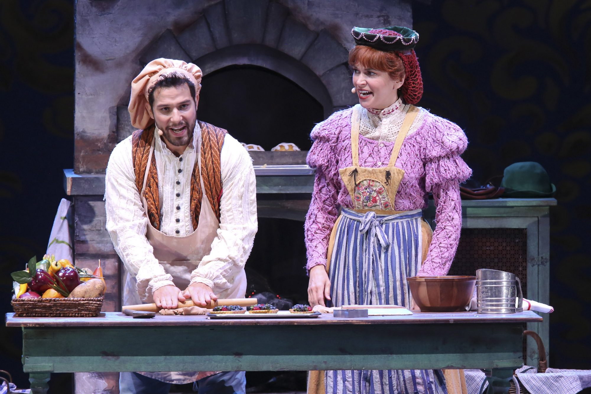 Hollywood Bowl Presents Into The Woods 2019 -- Pictured: Skylar Astin as The Baker, Sutton Foster as The Baker's Wife Photos by Craig T. Mathew and Greg Grudt/Mathew Imaging If these photos will be used on Social Media, please be sure to tag the following: @mathewimaging