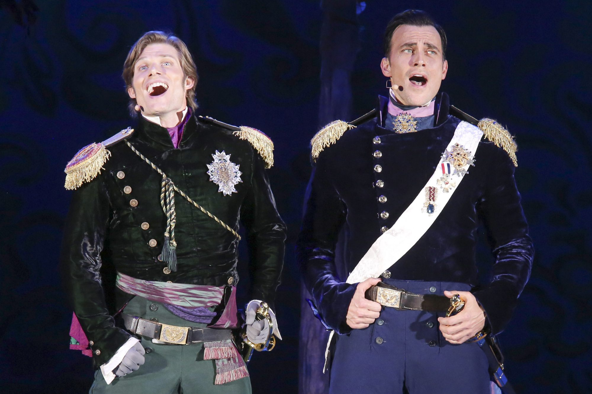 Hollywood Bowl Presents Into The Woods 2019 -- Pictured: Chris Carmack and Cheyenne Jackson as Princes Photos by Craig T. Mathew and Greg Grudt/Mathew Imaging If these photos will be used on Social Media, please be sure to tag the following: @mathewimaging