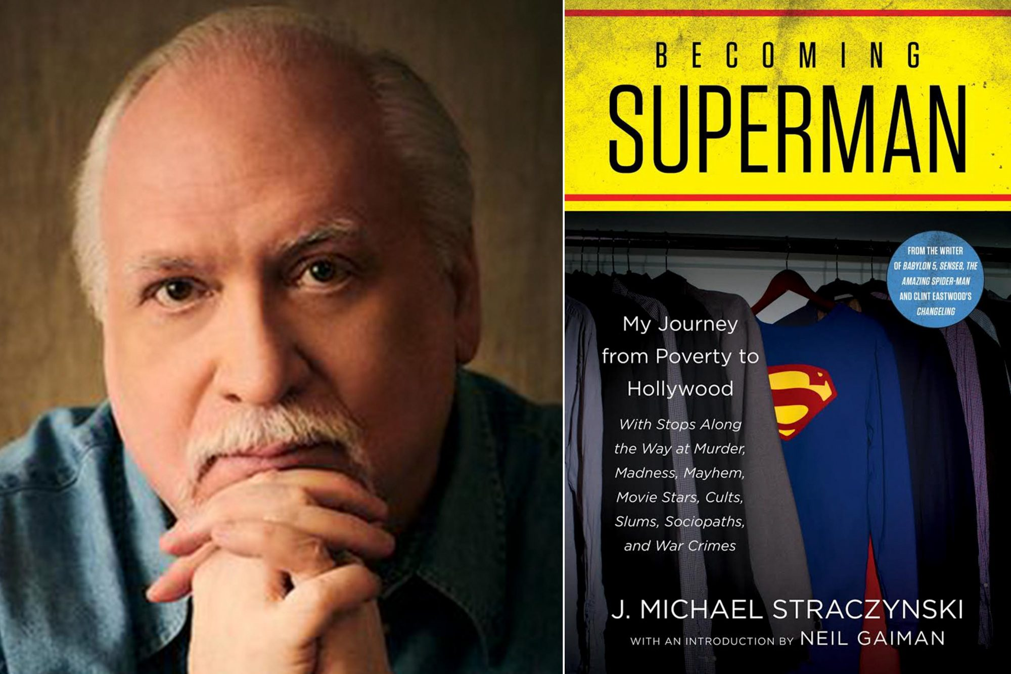 J. Michael Straczynski author photo CR: Peter Konerko Becoming Superman by J. Michael Straczynski CR: HarperCollins
