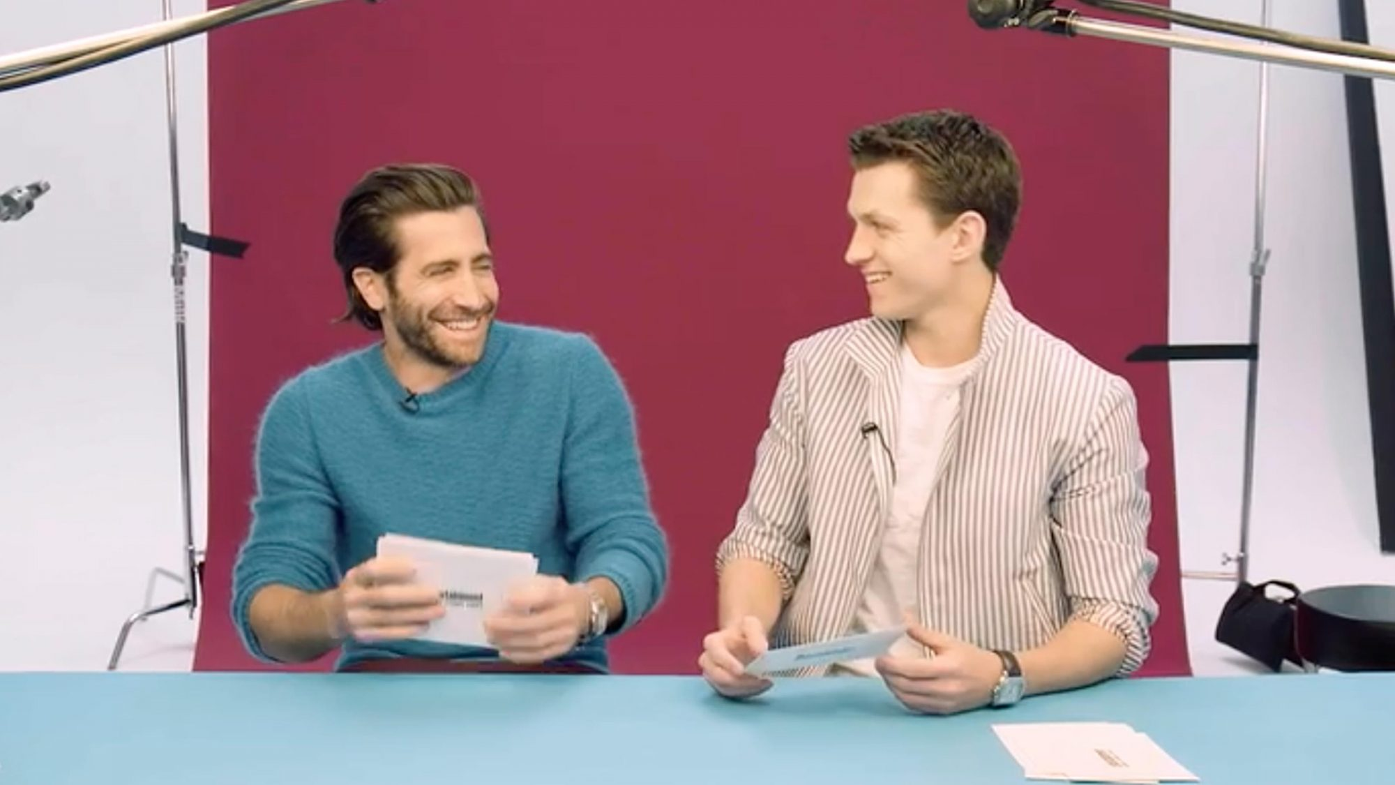 Jake Gyllenhaal and Tom Holland (screen grab)