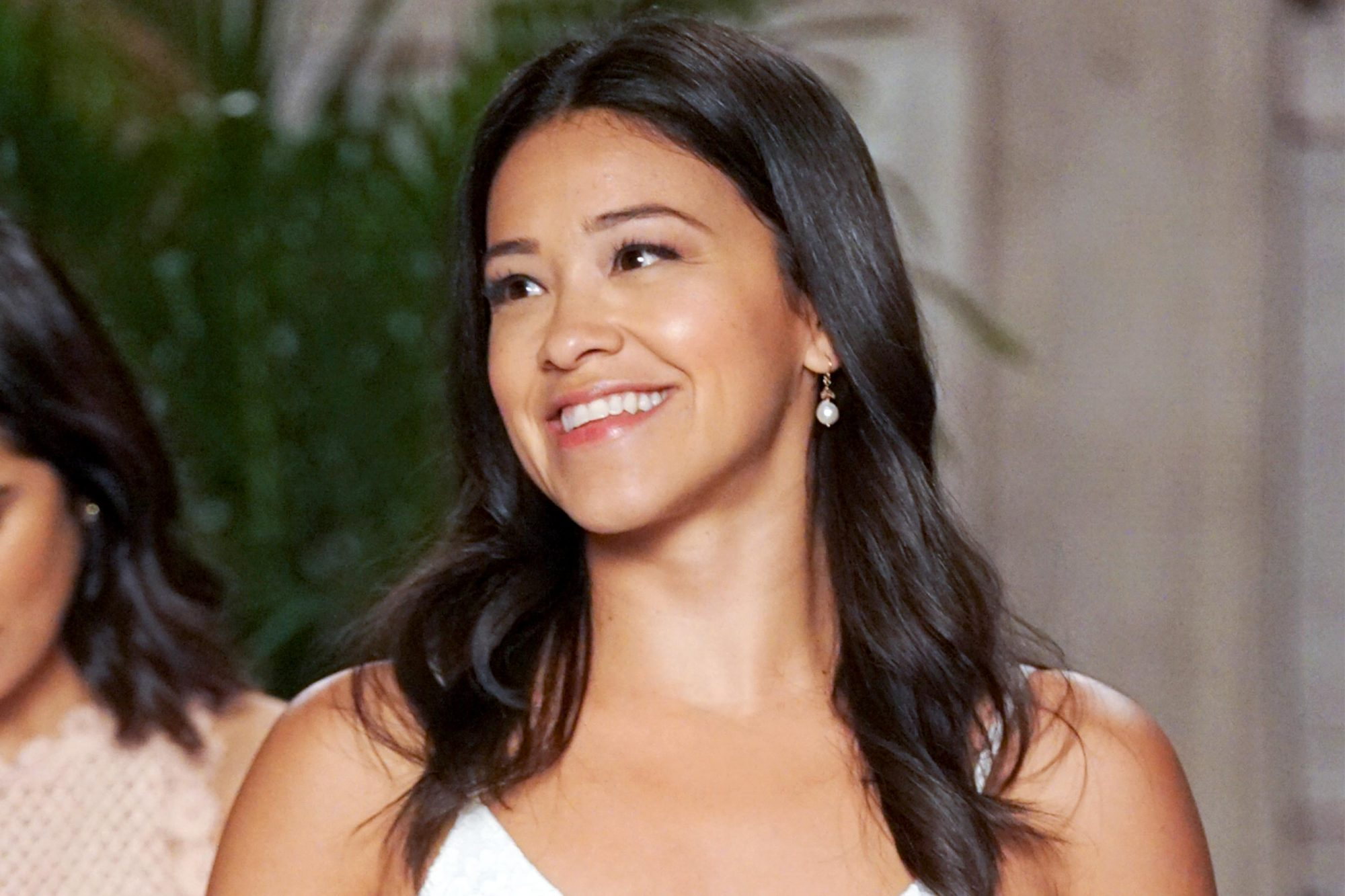 """Jane The Virgin -- """"Chapter One Hundred"""" -- Image Number: JAV519a_0214.jpg -- Pictured (L-R): Diane Guerrero as Lina and Gina Rodriguez as Jane -- Photo: Kevin Estrada/The CW -- © 2019 The CW Network, LLC. All Rights Reserved."""