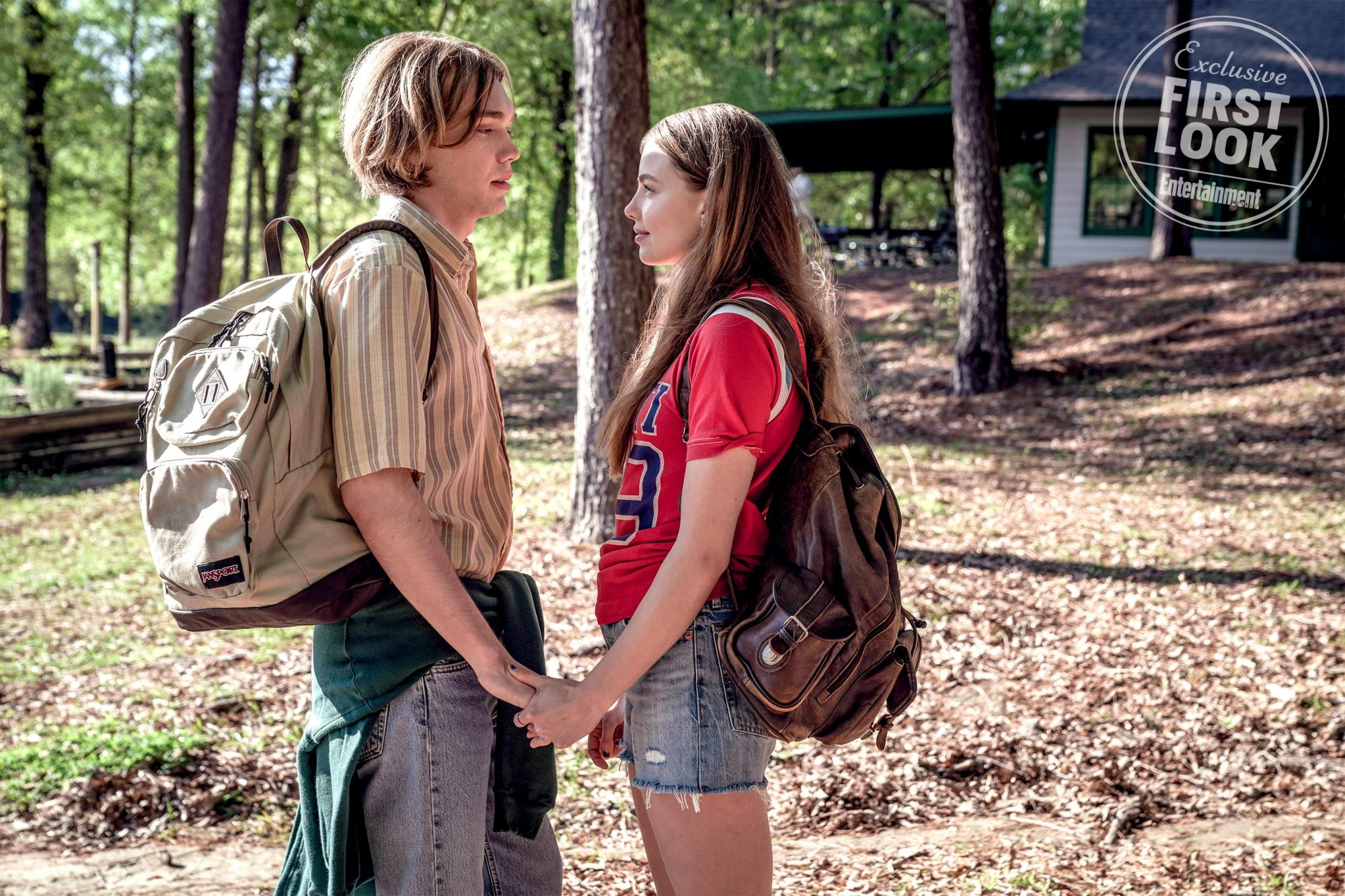 LOOKING FOR ALASKA -- Episode 101 -- Miles Halter, seeking his Great Perhaps, enrolls at Culver Creek Academy. On his first day, he gets a new nickname, a best friend, some enemies, and meets the wild, unpredictable, and enigmatic girl who lives down the hall: Alaska Young. Miles (Charlie Plummer) and Alaska (Kristine Froseth), shown. (Photo by: Alfonso Bresciani)
