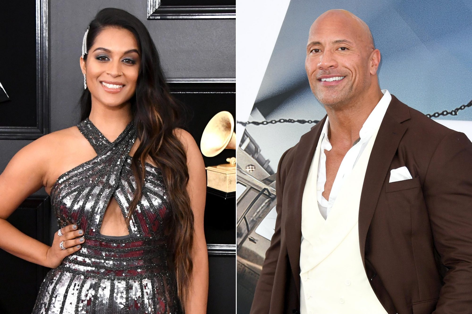 "LOS ANGELES, CALIFORNIA - FEBRUARY 10: Lilly Singh attends the 61st Annual GRAMMY Awards at Staples Center on February 10, 2019 in Los Angeles, California. (Photo by Jon Kopaloff/Getty Images) HOLLYWOOD, CALIFORNIA - JULY 13: Dwayne Johnson attends the premiere of Universal Pictures' ""Fast & Furious Presents: Hobbs & Shaw"" at Dolby Theatre on July 13, 2019 in Hollywood, California. (Photo by Jon Kopaloff/Getty Images)"