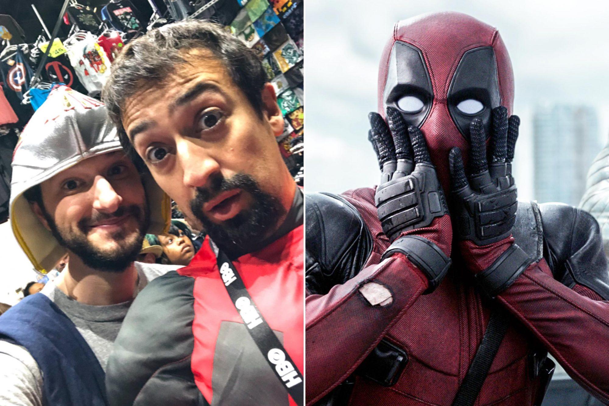 Ben Schwartz, Lin Manuel-Miranda at Comic Con ; Deadpool