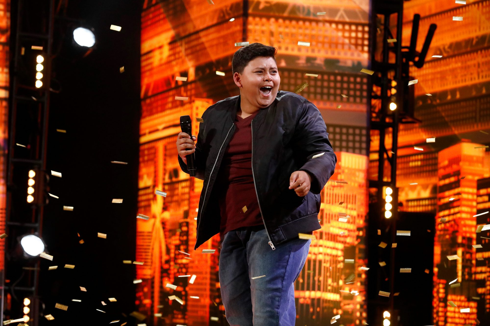 """AMERICA'S GOT TALENT -- """"Auditions 6"""" Episode 1407 -- Pictured: Luke Islam-- (Photo by: Trae Patton/NBC)"""