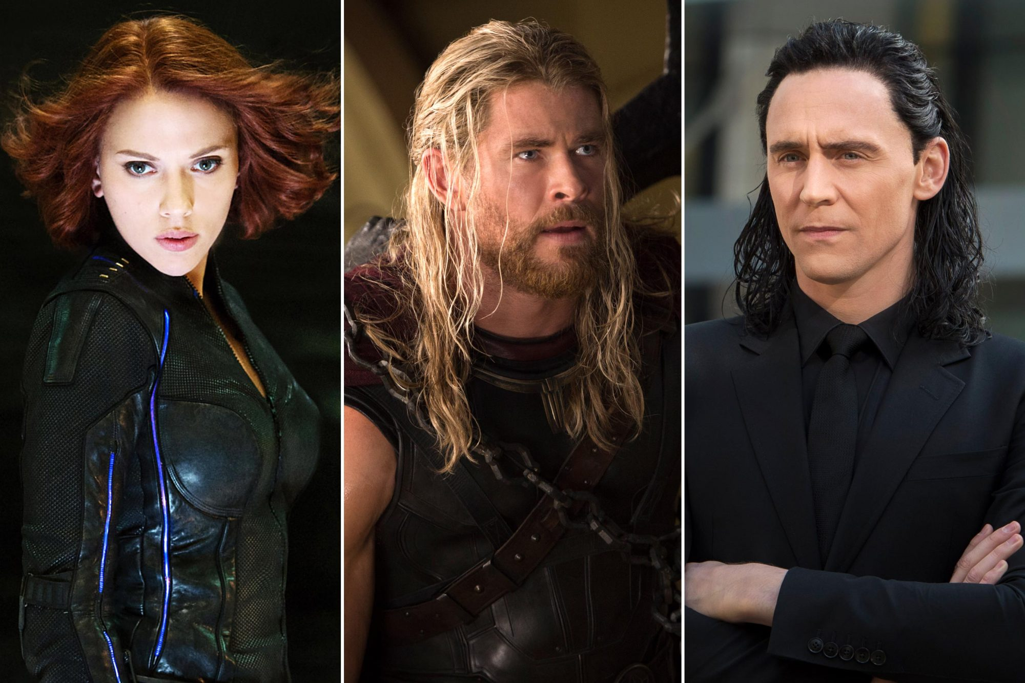 Black Widow; Thor; Loki