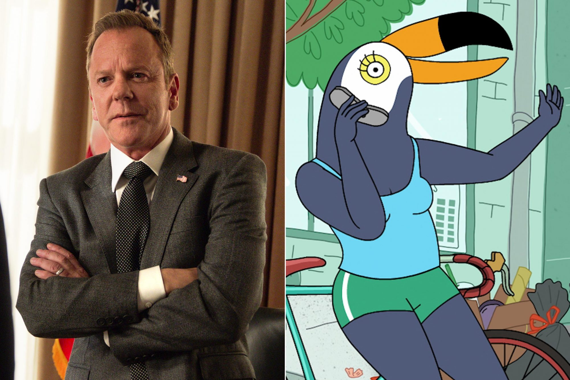 DESIGNATED SURVIVOR Season 3 Kiefer Sutherland CR: Netflix Tuca & Bertie CR: Netflix