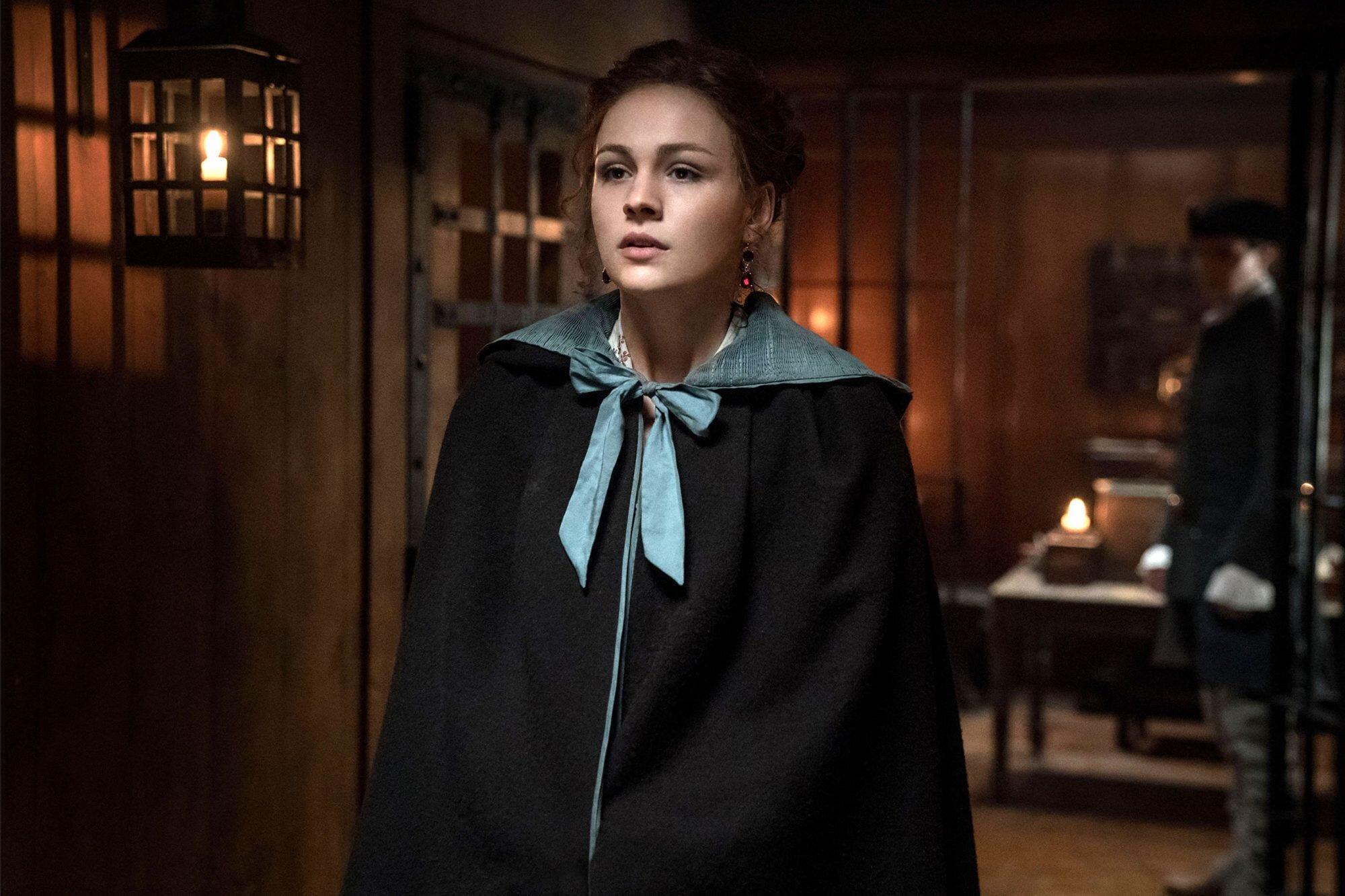 Outlander Sophie Skelton On Why Brianna Slapped Jamie In Season 4 Ew Com