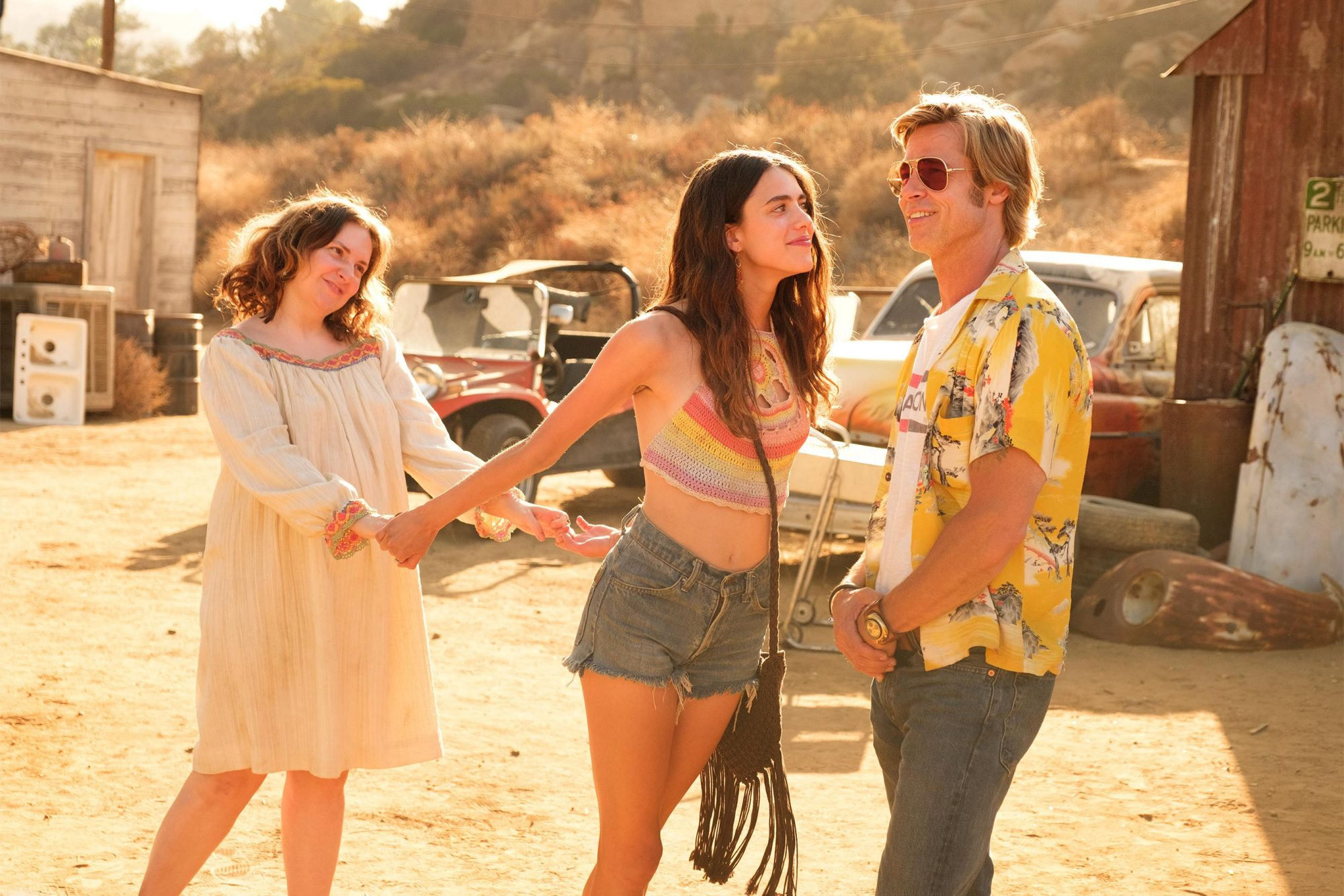 Lena Dunham, Margaret Qualley and Brad Pitt star in ONCE UPON A TIME IN HOLLYWOOD