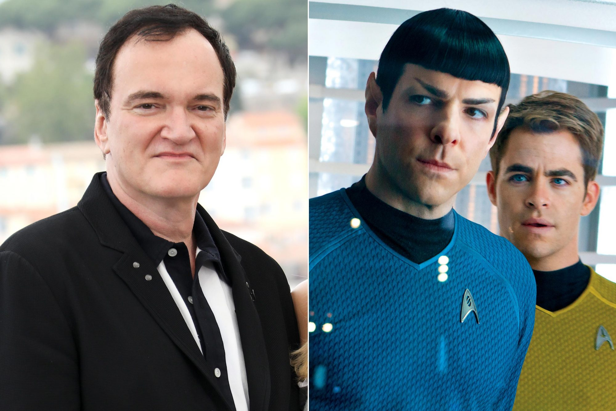 "CANNES, FRANCE - MAY 22: Quentin Tarantino attends the photocall for ""Once Upon A Time In Hollywood"" during the 72nd annual Cannes Film Festival on May 22, 2019 in Cannes, France. (Photo by Tony Barson/FilmMagic) STAR TREK INTO DARKNESS (2013) Zachary Quinto is Spock and Chris Pine Photo credit: Zade Rosenthal/Paramount"