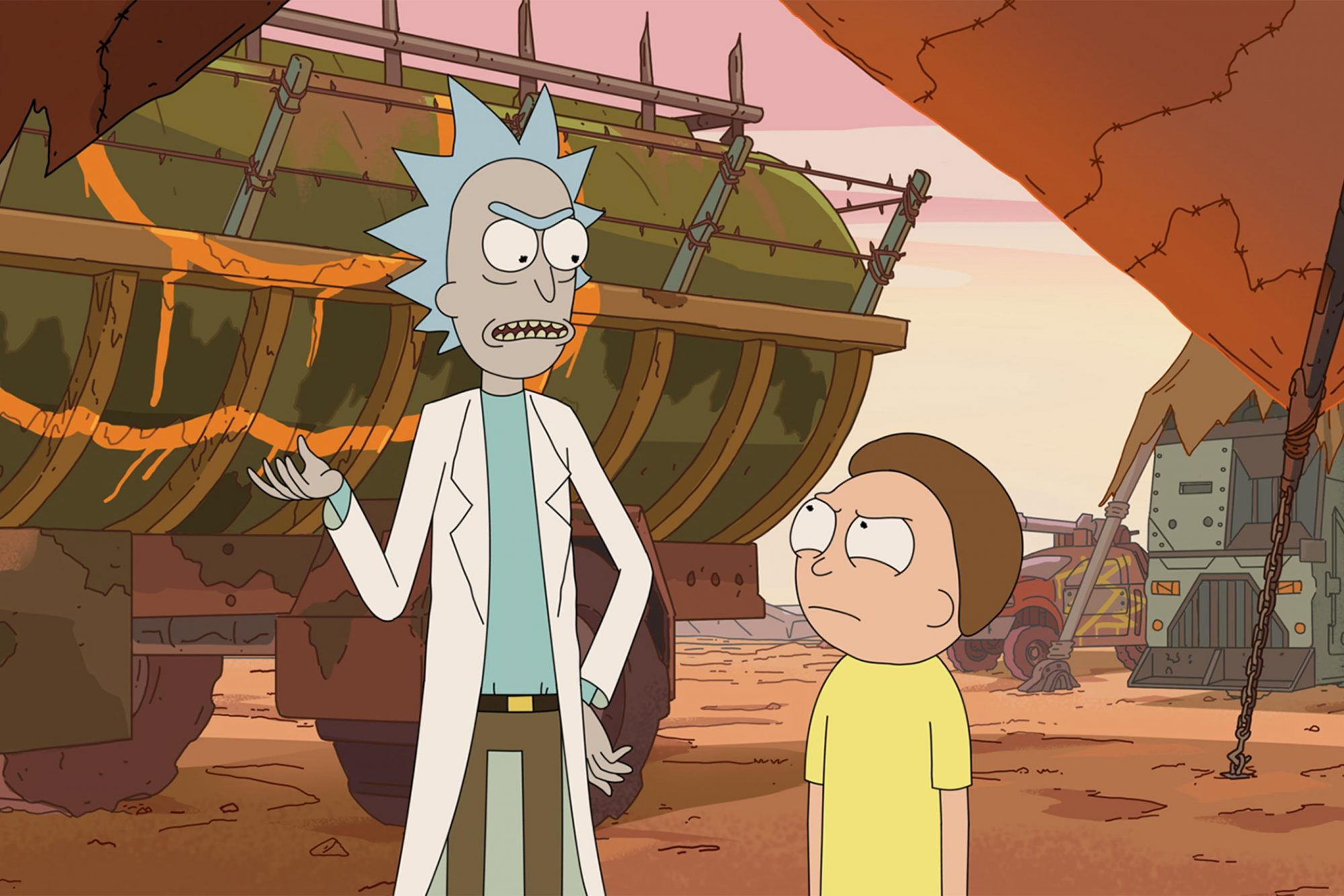 Rick and Morty Season 3 Image 2 (L to R) Rick Sanchez and Morty debate over the right decision. All new episodes of Rick and Morty start Sunday, July 30th at 11:30pm ET/PT on Adult Swim.