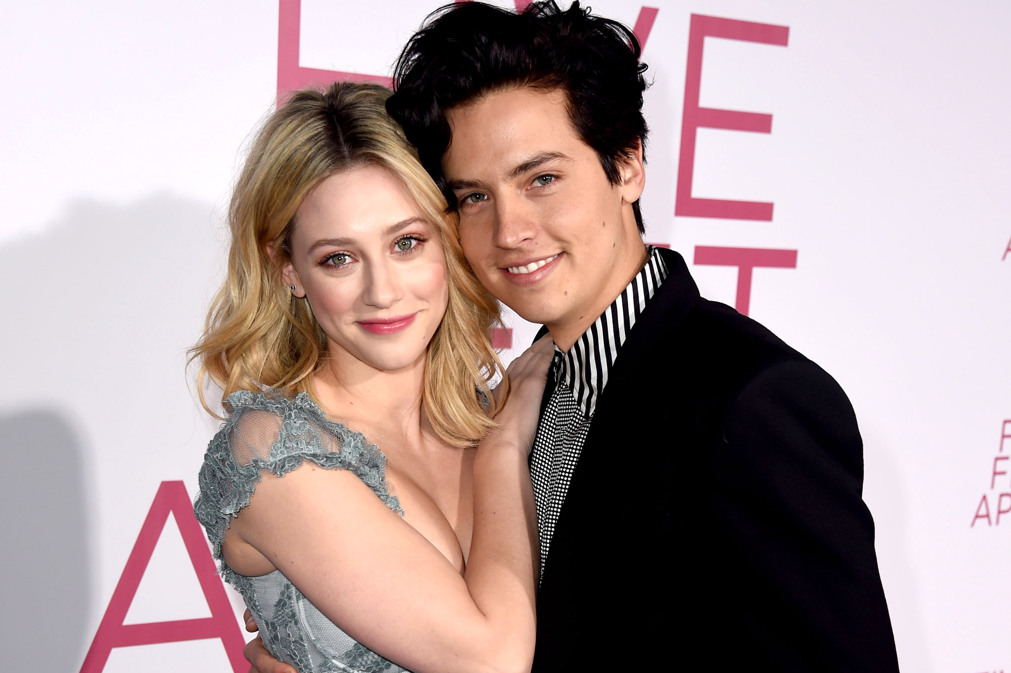 "LOS ANGELES, CALIFORNIA - MARCH 07: Lili Reinhart (L) and Cole Sprouse arrive at the premiere of CBS Films' ""Five Feet Apart"" at the Fox Bruin Theatre on March 07, 2019 in Los Angeles, California. (Photo by Kevin Winter/Getty Images)"