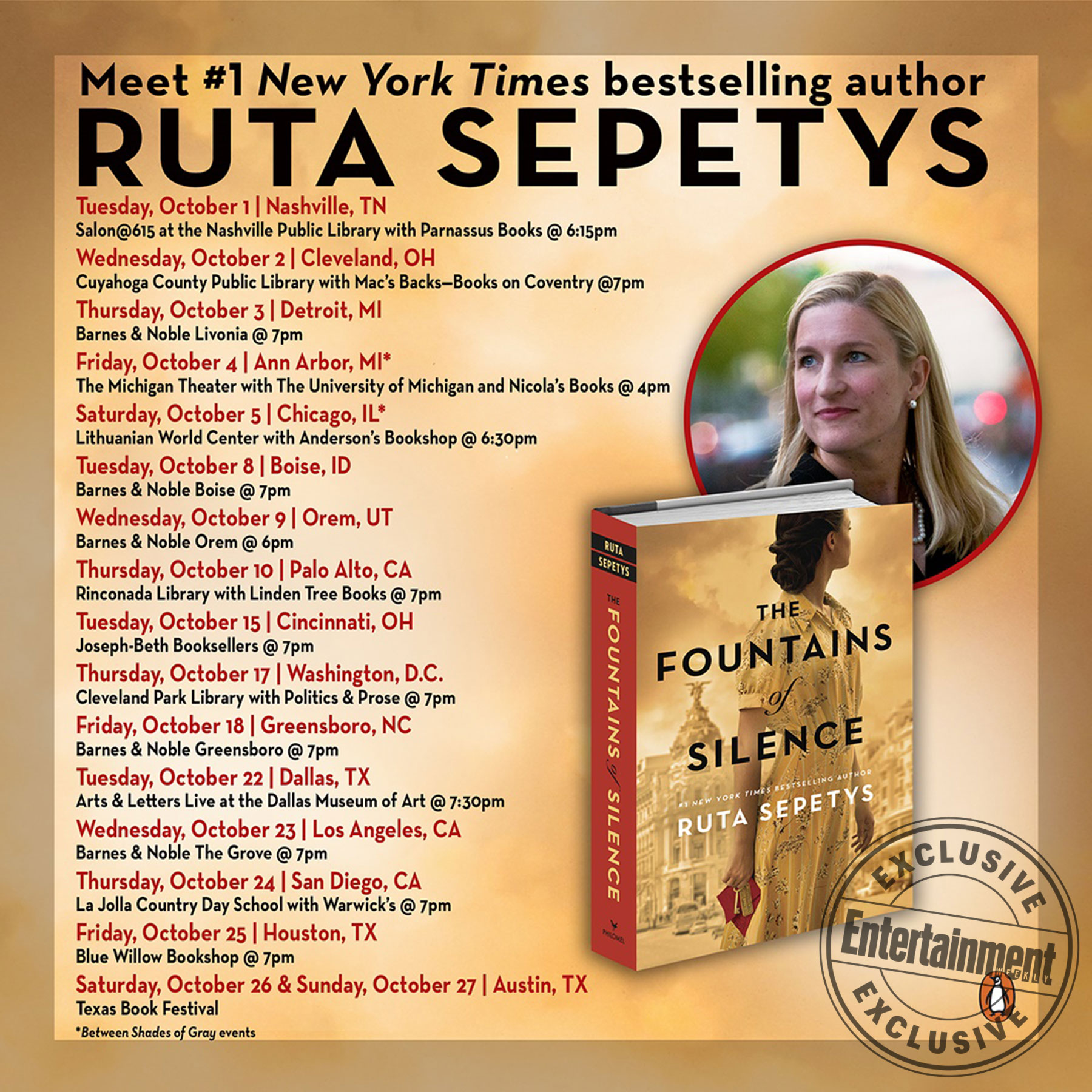The Fountains of Silence book tour