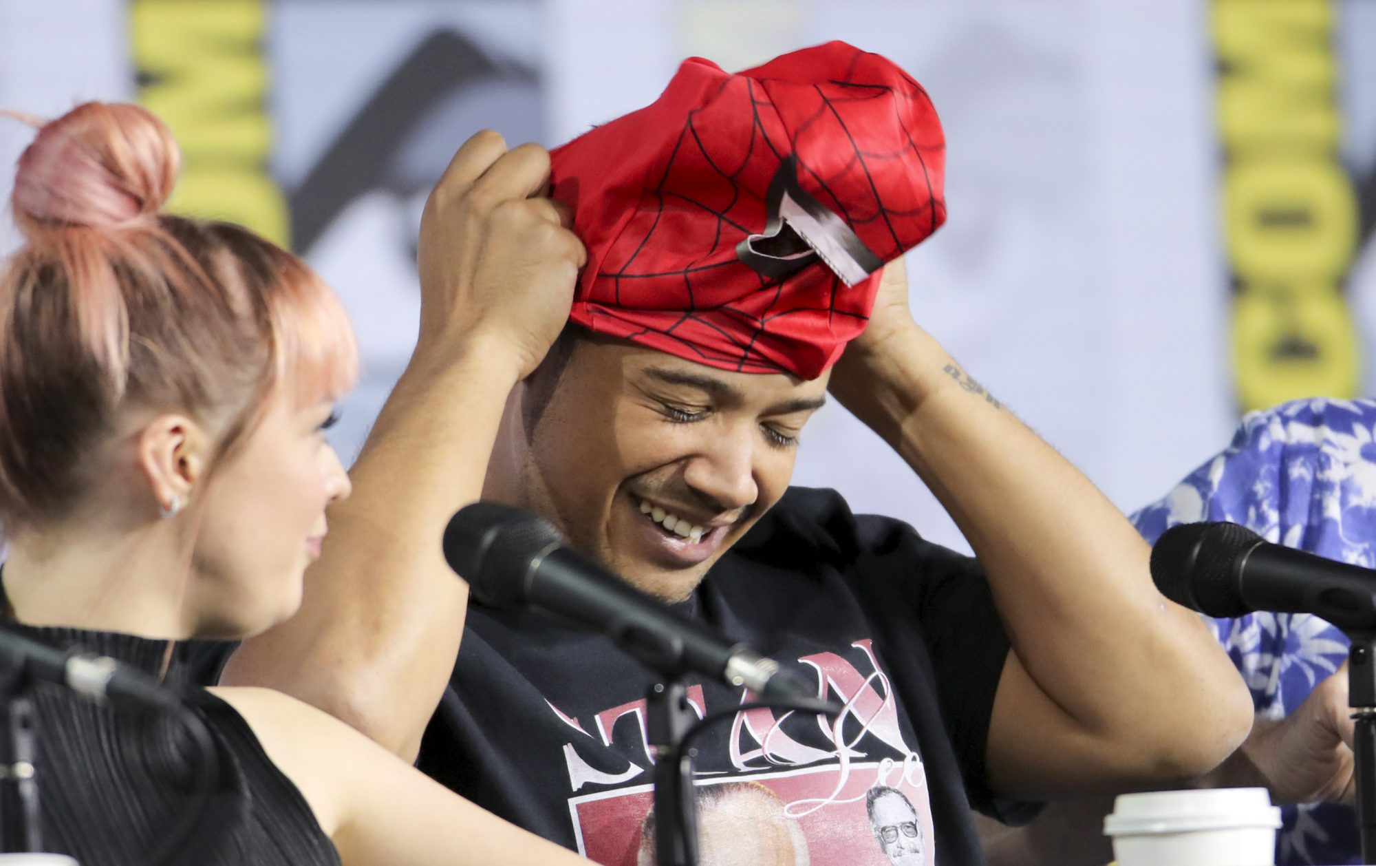 Mandatory Credit: Photo by Chelsea Lauren/Variety/Shutterstock (10341166al) Maisie Williams and Jacob Anderson 'Game of Thrones' TV show panel, Comic-Con International, San Diego, USA - 19 Jul 2019