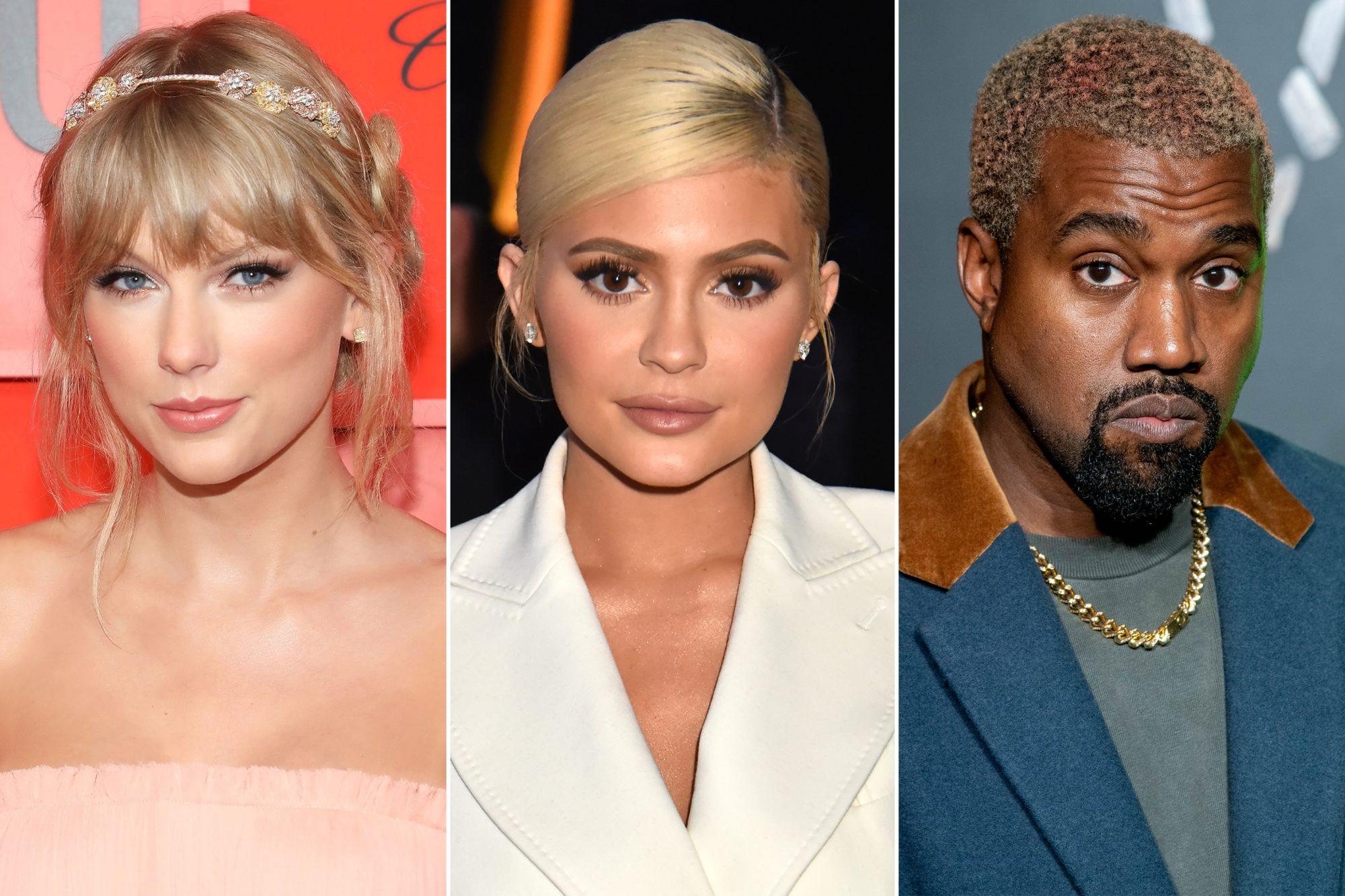 Taylor Swift; Kylie Jenner; Kanye West