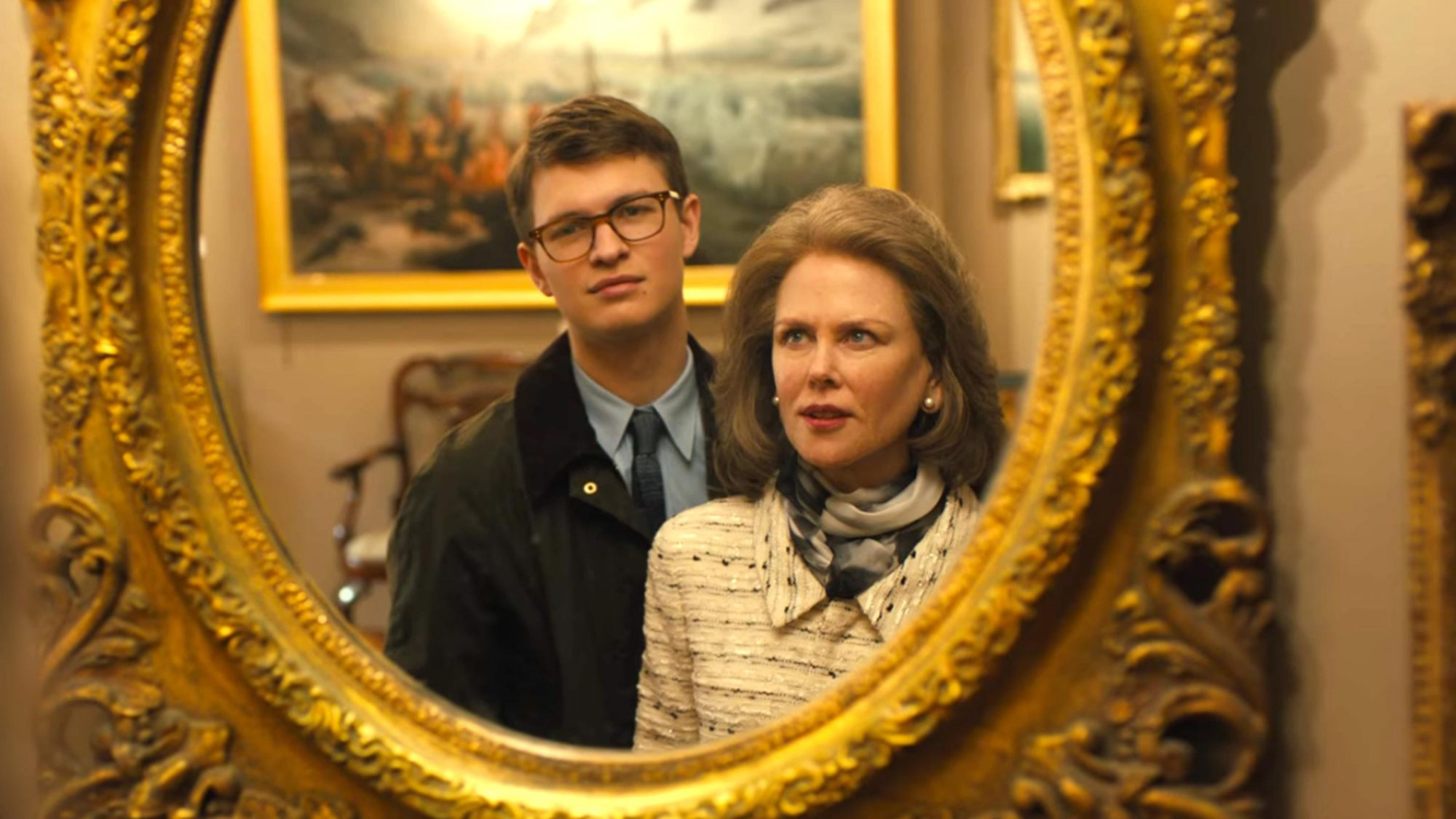 The Goldfinch (screen grab) Ansel Elgort and Nicole Kidman https://www.youtube.com/watch?v=NM8hLj_qz5c CR: Warner Bros. Pictures