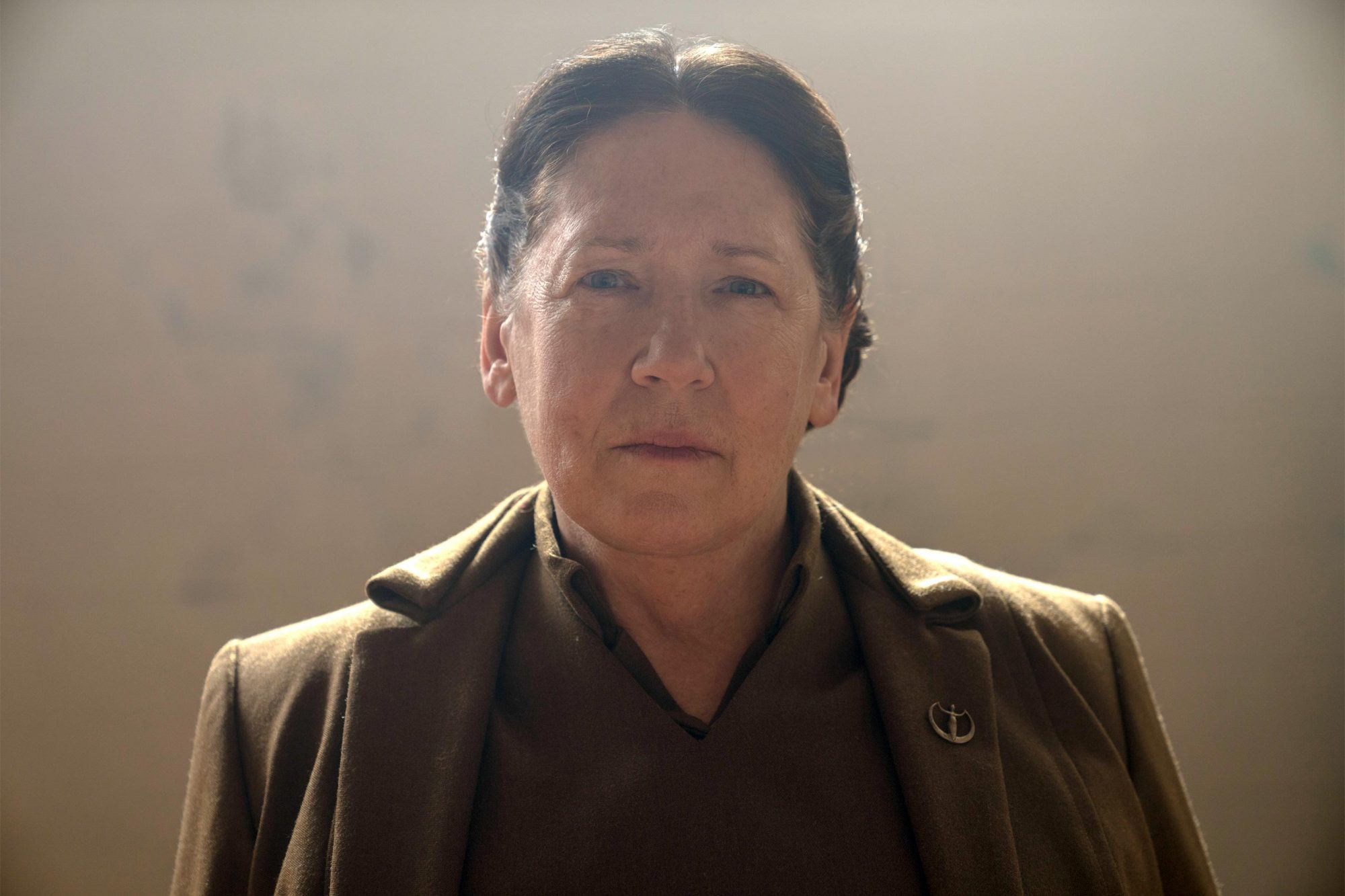 "The Handmaid's Tale -- ""Unfit"" - Episode 308 -- June and the rest of the Handmaids shun Ofmatthew, and both are pushed to their limit at the hands of Aunt Lydia. Aunt Lydia reflects on her life and relationships before the rise of Gilead. Aunt Lydia (Ann Dowd), shown. (Photo by: Sophie Giraud/Hulu)"