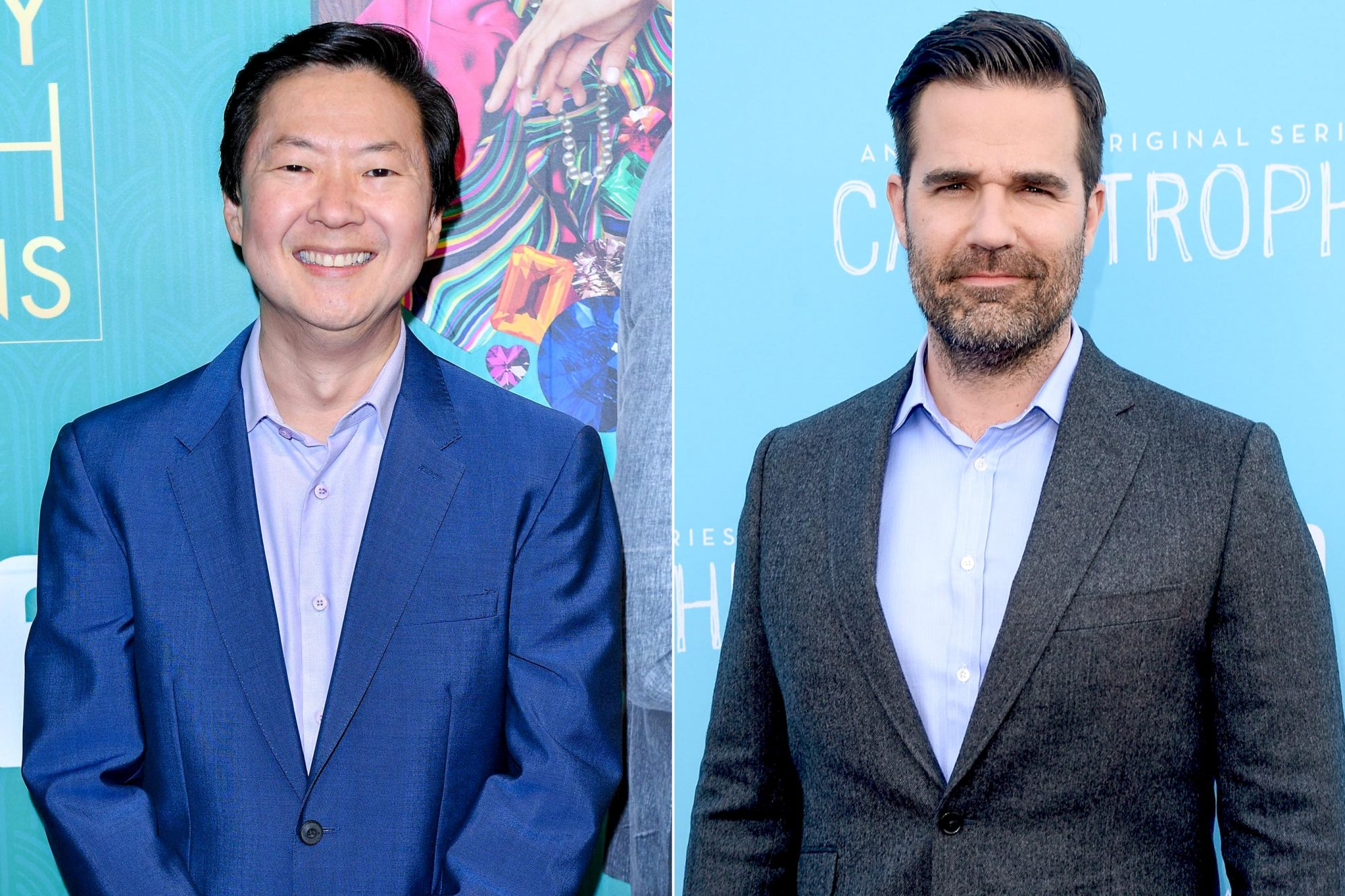 "TORONTO, ON - JULY 30: Ken Jeong arrives In Toronto To Celebrate The Release Of ""Crazy Rich Asians"" on July 30, 2018 in Toronto, Canada. (Photo by George Pimentel/Getty Images for Warner Bros. Canada) WEST HOLLYWOOD, CALIFORNIA - APRIL 03: Actor/comedian Rob Delaney arrives at the screening of Amazon's ""Catastrophe"" Season 2 at The London Hotel on April 3, 2016 in West Hollywood, California. (Photo by Matt Winkelmeyer/Getty Images)"