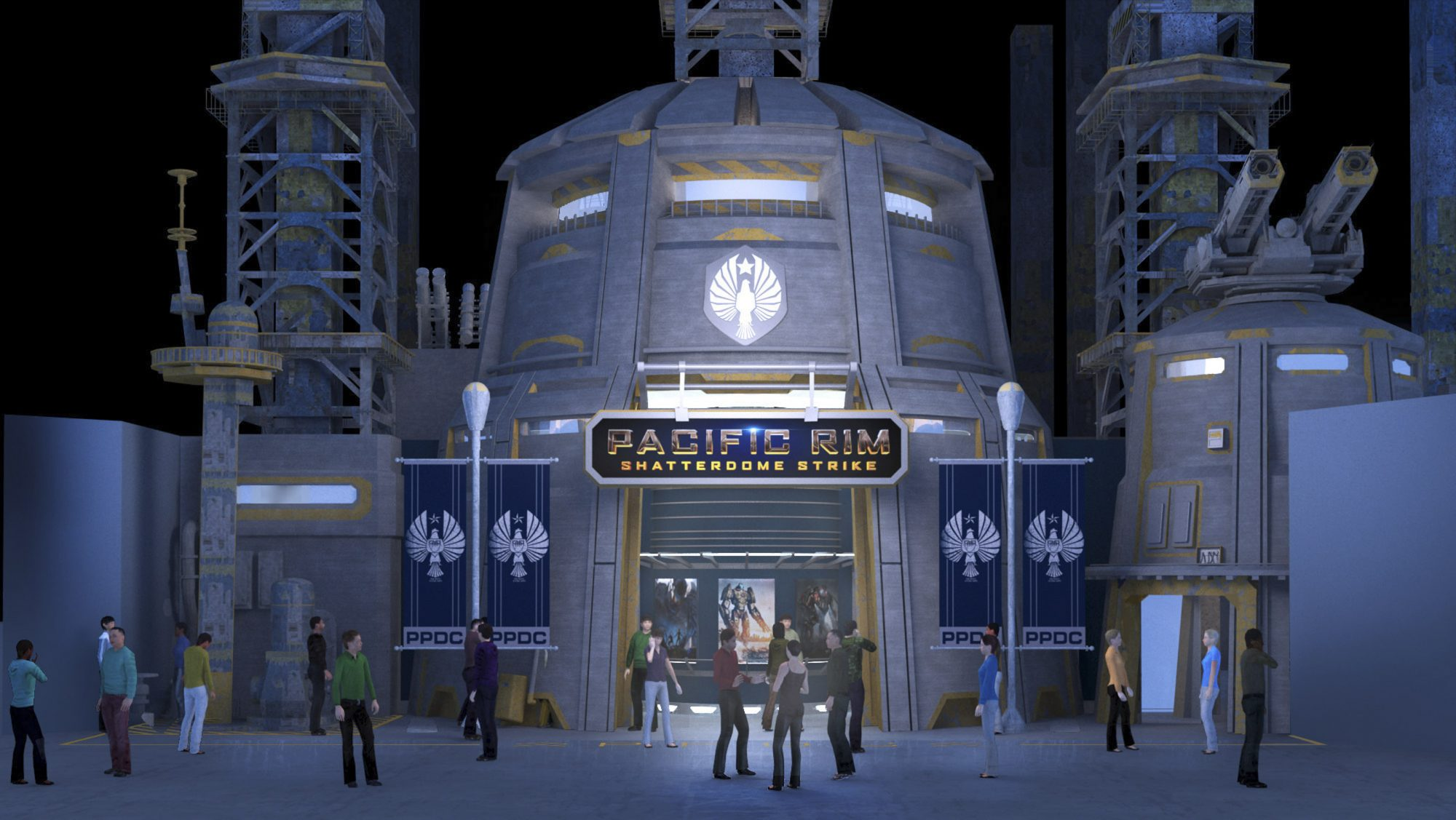 Pacific Rim: Shatterdome Strike Attraction Entrance Concept Art