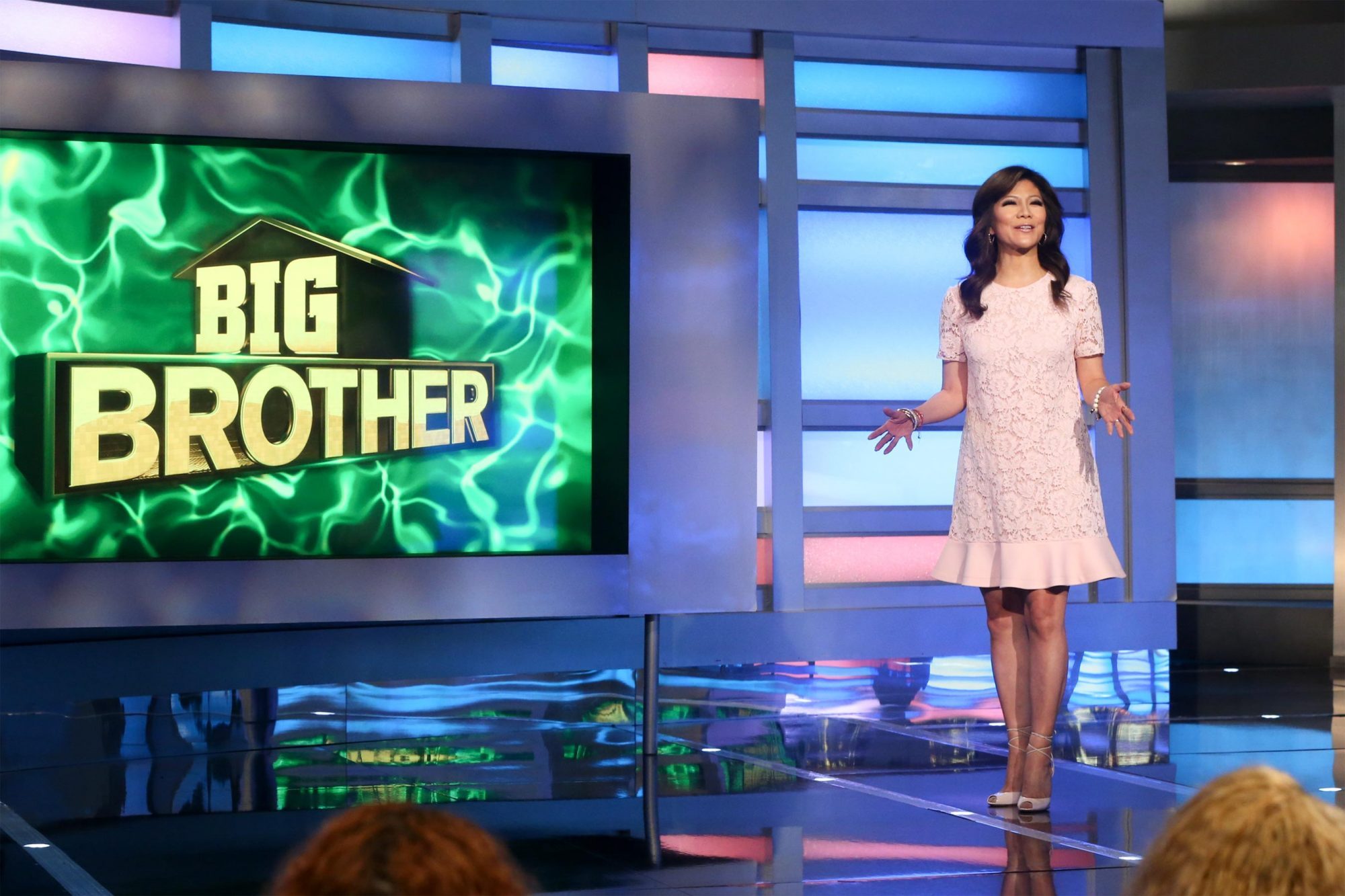 Host Julie Chen Moonves on BIG BROTHERÕs two-night premiere event airing Tuesday, June 25 and Wednesday, June 26 (8:00 Ð 9:00 PM, ET/PT), on the CBS Television Network. Following the two-night premiere, BIG BROTHER will be broadcast Sunday, June 30 (8:00-9:00 PM, ET/PT) and Tuesday, July 2 (8:00-9:00 PM, ET/PT). The first live eviction airs Wednesday, July 3. As of Wednesday, July 10, the show moves to its regular schedule of Wednesdays (9:00-10:00 PM, ET/PT), Thursdays, featuring the live evictions (9:00-10:00 PM, LIVE ET/Delayed PT) and Sundays (8:00-9:00 PM, ET/PT). Reserved Photo: Monty Brinton/CBS ©2018 CBS Broadcasting, Inc. All Rights Reserved