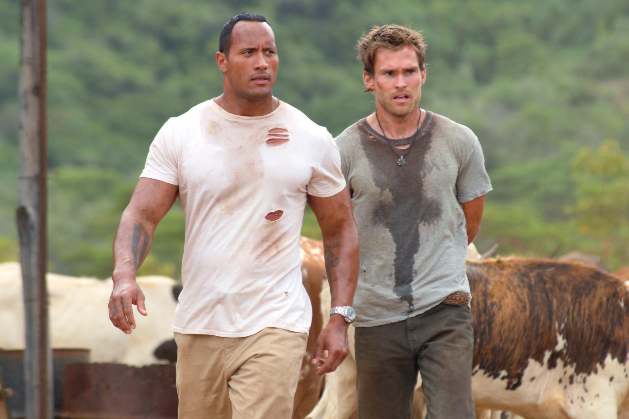 The Rundown (2003)Dwayne Johnson (aka The Rock) (L) and SEANN WILLIAM SCOTT