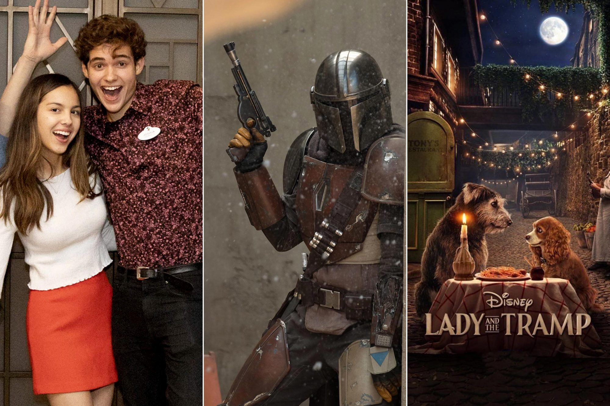 High School Musical, The mandalorian, Lady and the tamp
