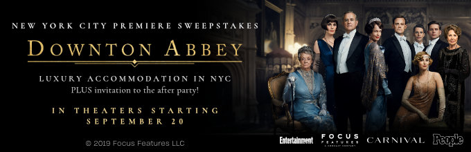 Downton Abbey New York City premiere sweepstakes