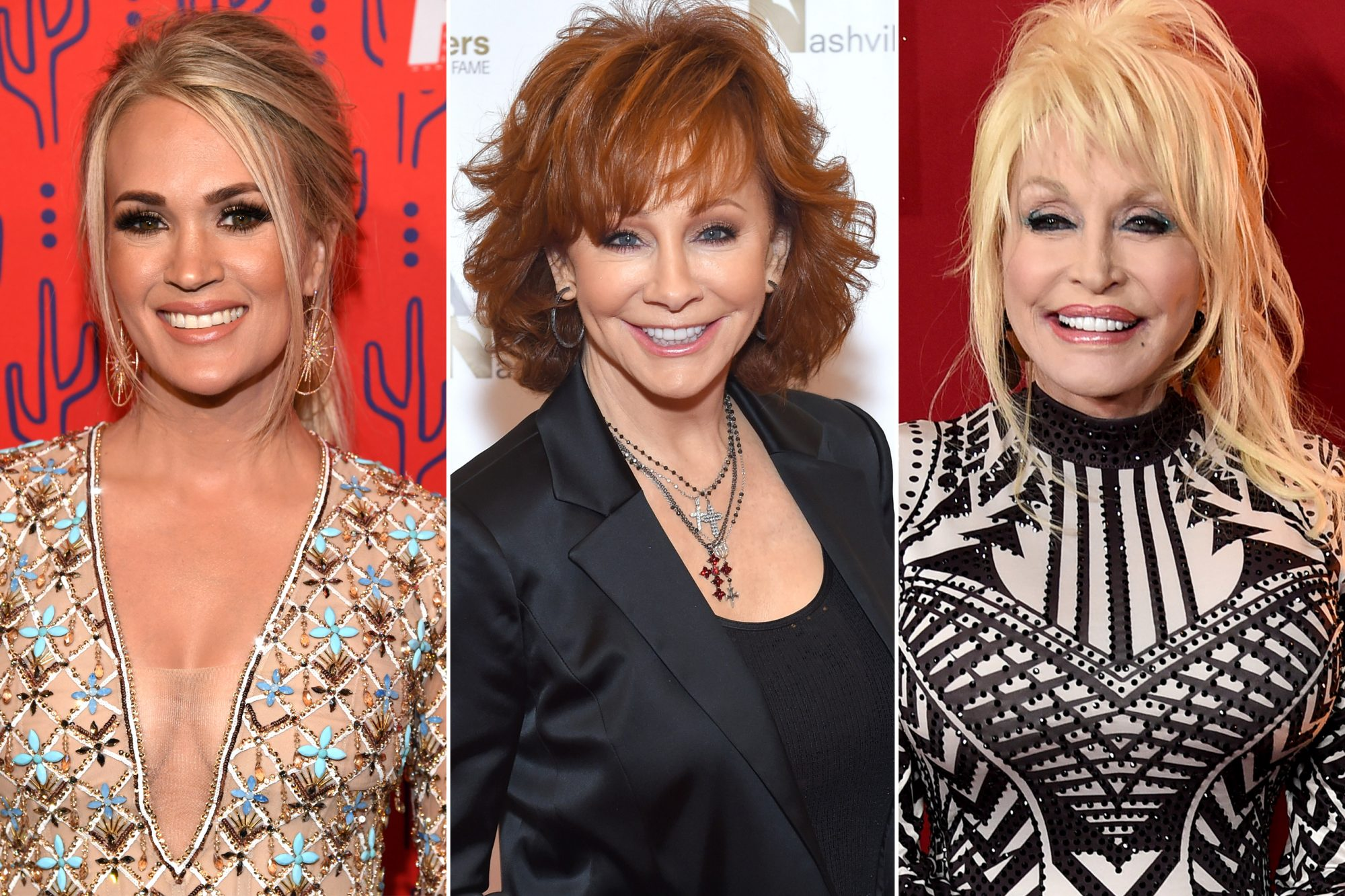 Carrie Underwood; Reba McEntire; Dolly Parton