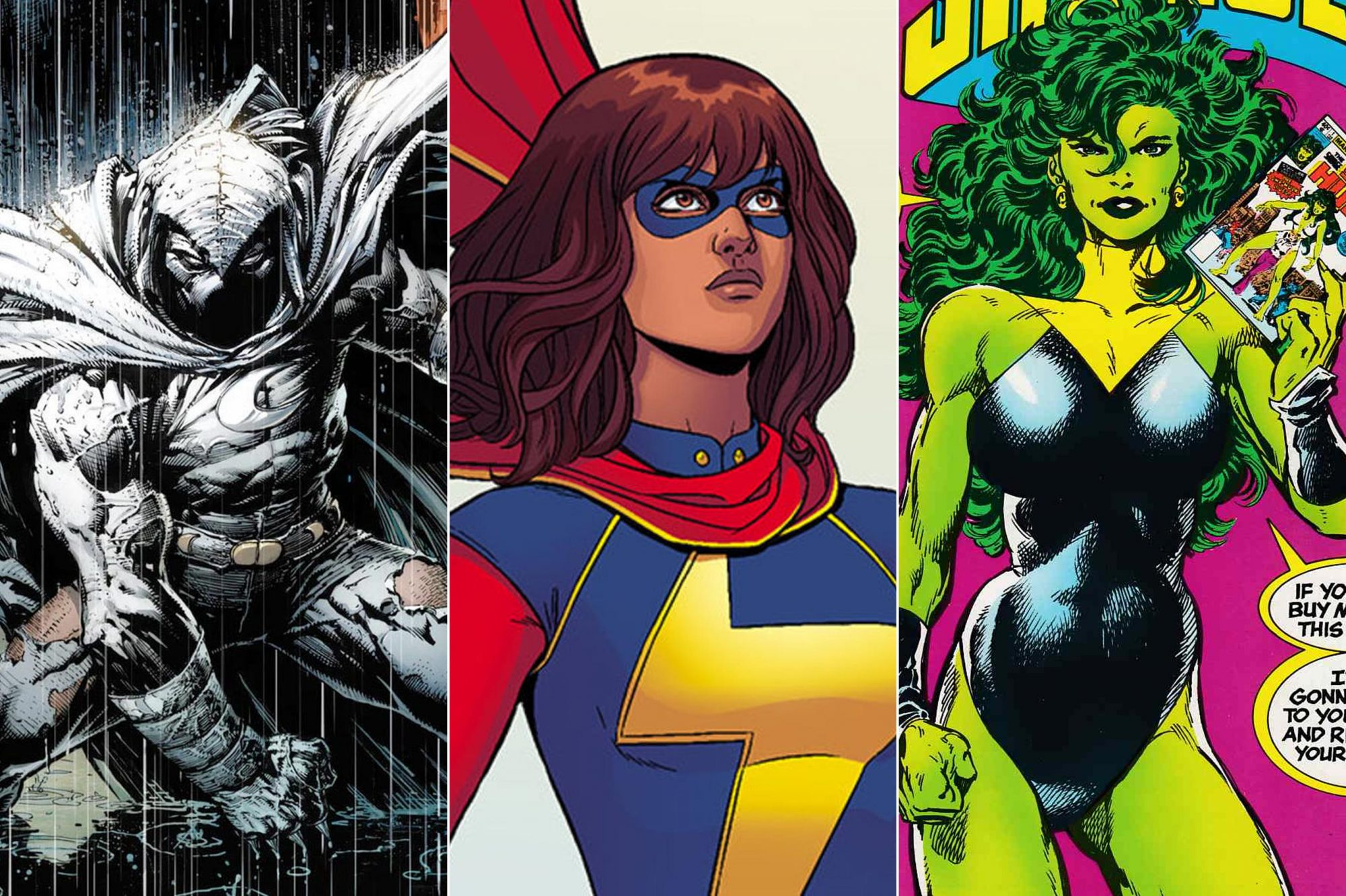 Ms. Marvel, Moon Knight, She-Hulk