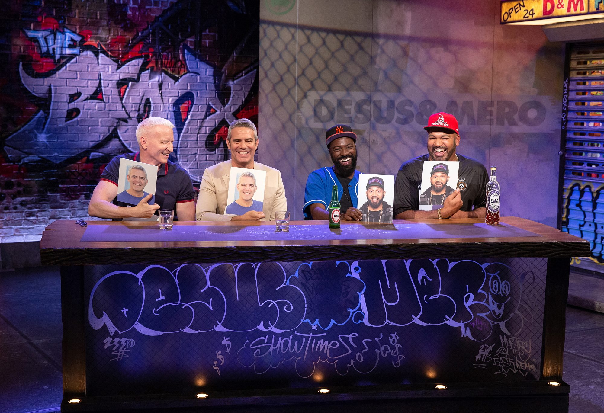 Desus Nice, Andy Cohen, Anderson Cooper and The Kid Mero