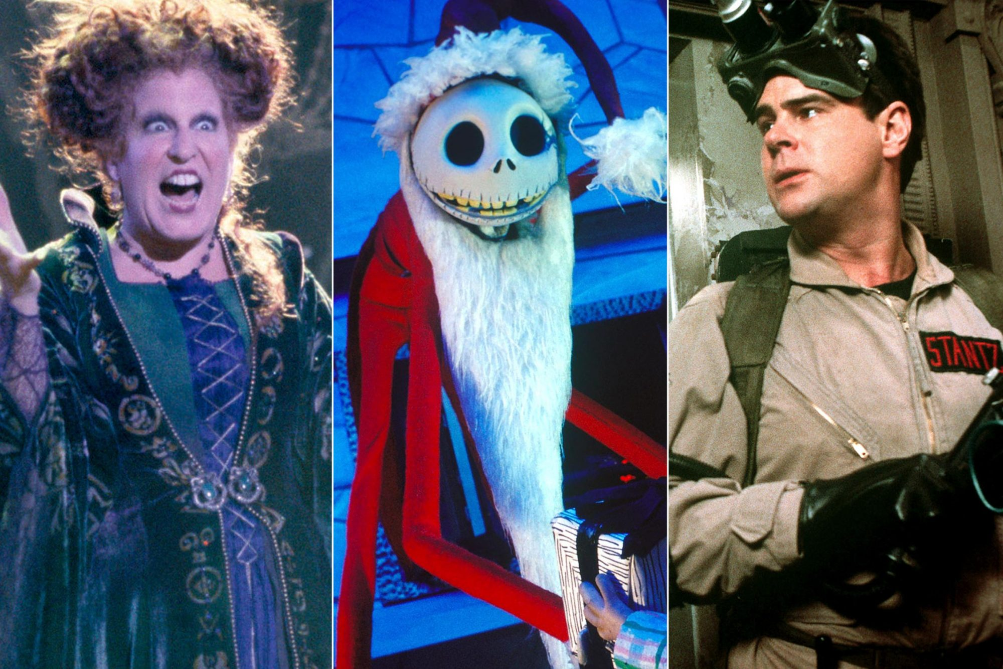 HOCUS POCUS, Bette Midler 1993, (c) Buena Vista/courtesy Everett Collection Nightmare Before Christmas (2007) Jack Skellington (Chris Sarandon) CR: Disney GHOSTBUSTERS, Dan Aykroyd, 1984, (c) Columbia/courtesy Everett Collection