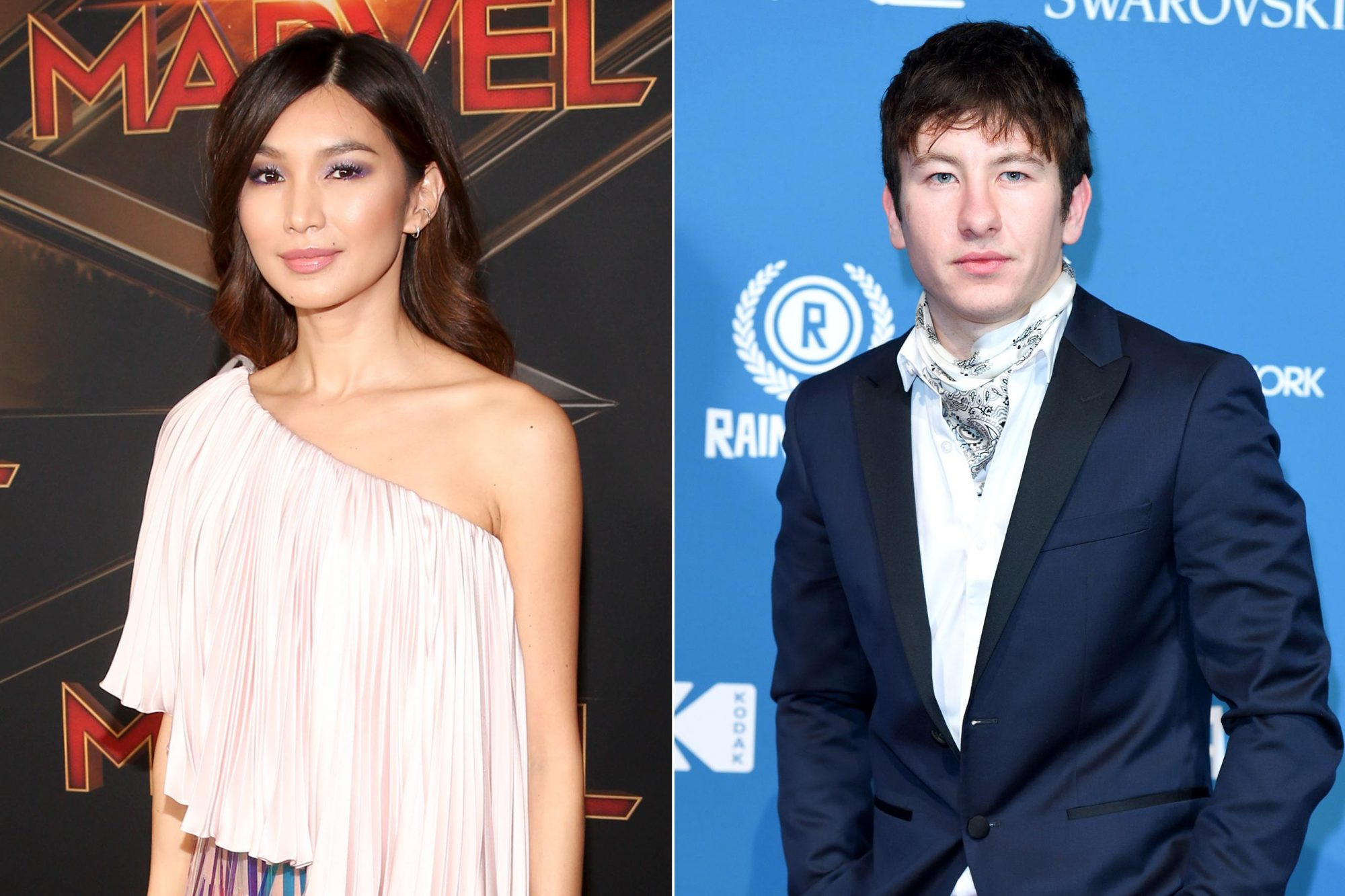 "HOLLYWOOD, CA - MARCH 04: Actor Gemma Chan attends the Los Angeles World Premiere of Marvel Studios' ""Captain Marvel"" at Dolby Theatre on March 4, 2019 in Hollywood, California. (Photo by Jesse Grant/Getty Images for Disney) LONDON, ENGLAND - DECEMBER 02: Barry Keoghan attends the 21st British Independent Film Awards at Old Billingsgate on December 2, 2018 in London, England. (Photo by Karwai Tang/WireImage)"