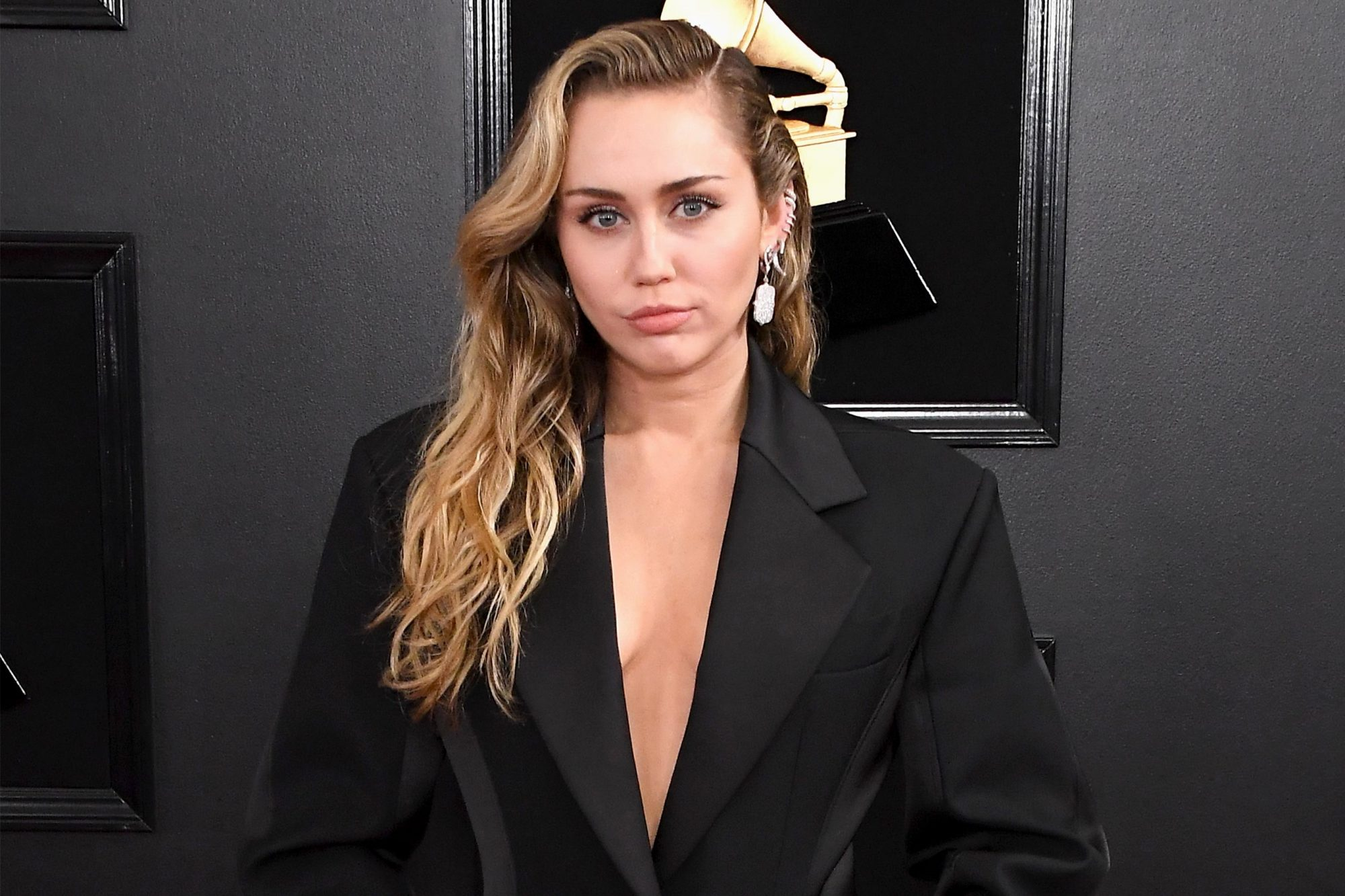LOS ANGELES, CA - FEBRUARY 10: Miley Cyrus attends the 61st Annual GRAMMY Awards at Staples Center on February 10, 2019 in Los Angeles, California. (Photo by Steve Granitz/WireImage)