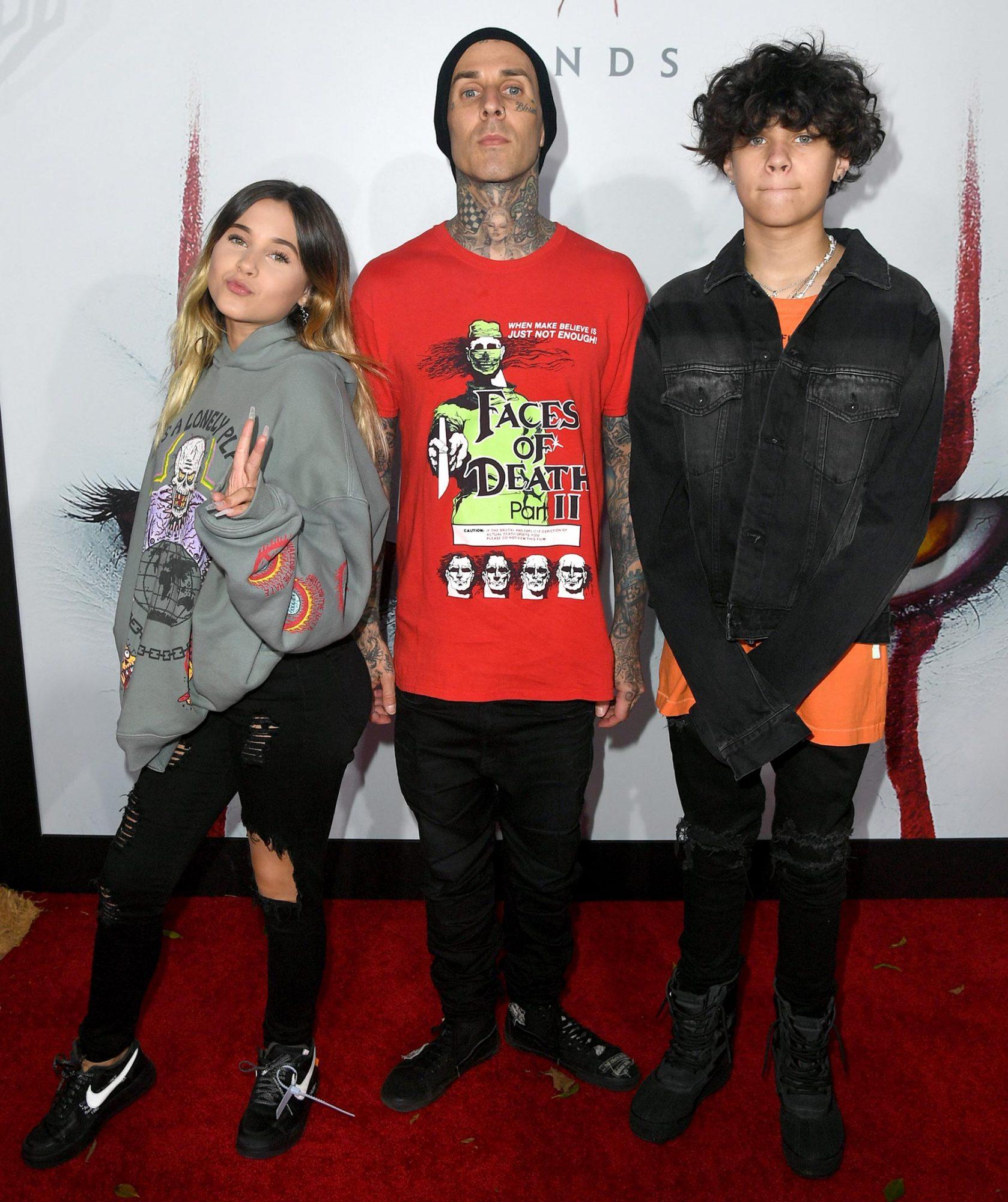 Alabama Luella Barker, Travis Barker, and Landon Asher Barker