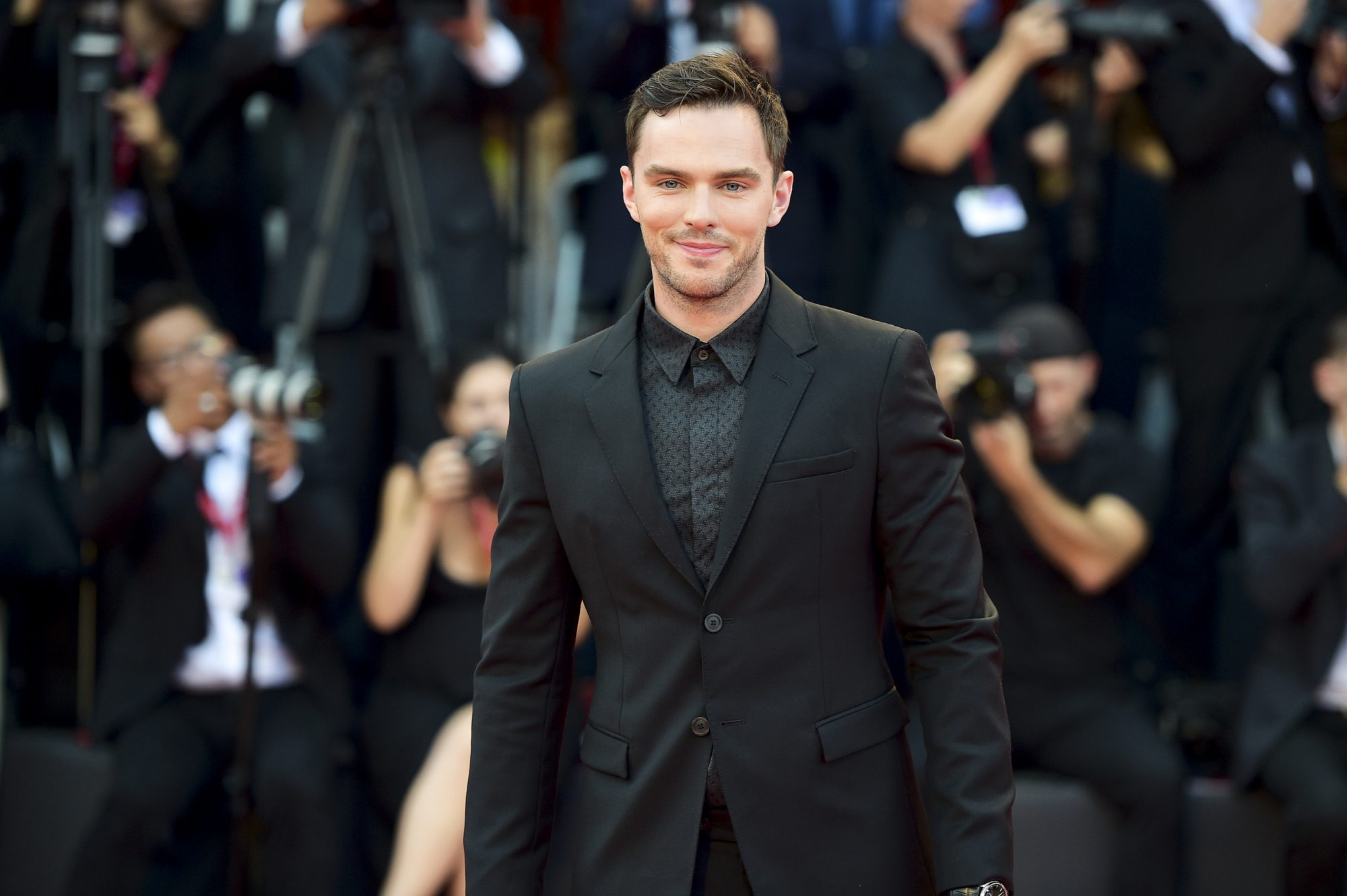 "VENICE, ITALY - AUGUST 31: Nicholas Hoult walks the red carpet ahead of the ""Joker"" screening during the 76th Venice Film Festival at Sala Grande on August 31, 2019 in Venice, Italy. (Photo by Theo Wargo/Getty Images)"
