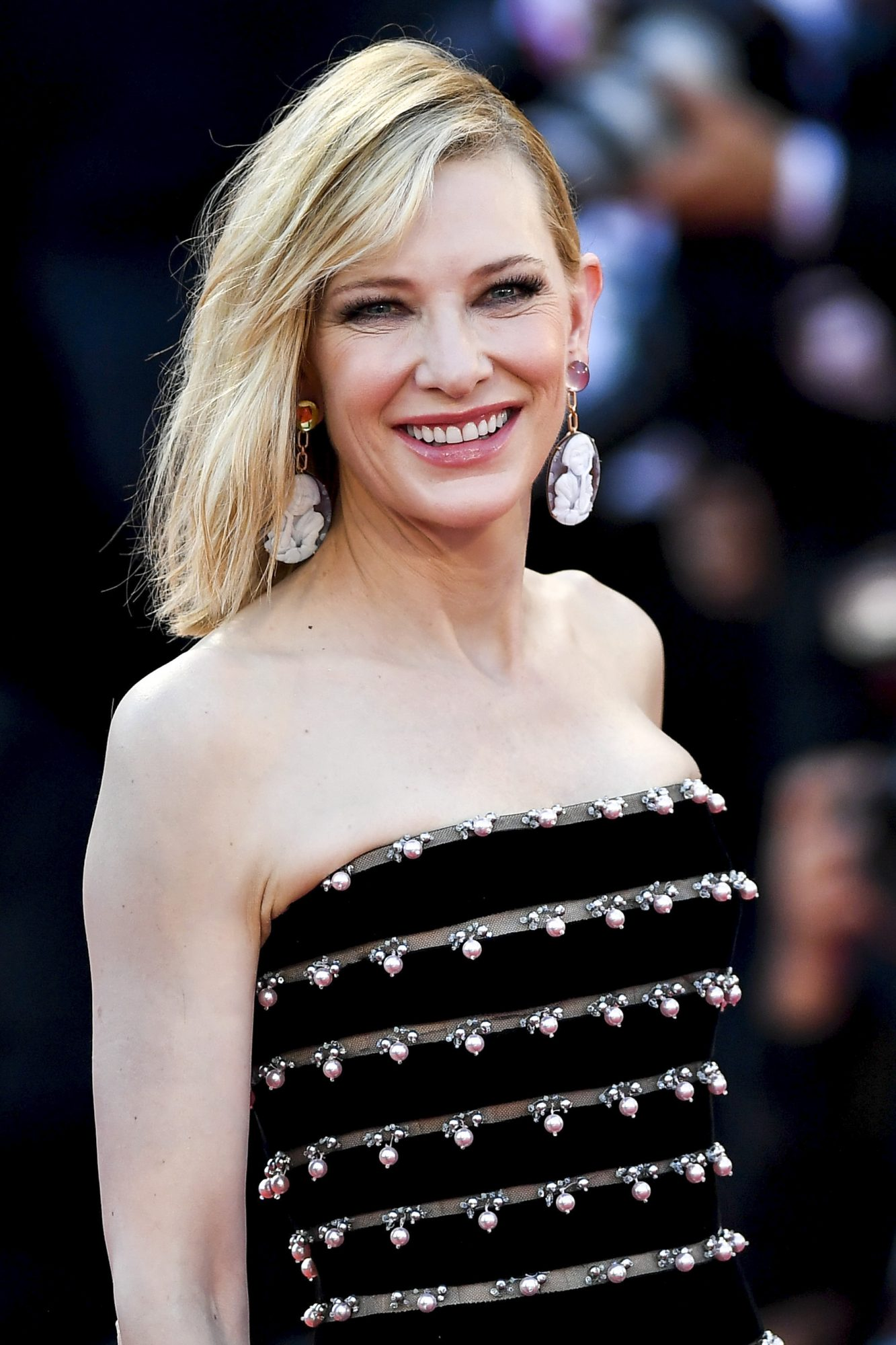 "VENICE, ITALY - AUGUST 31: Cate Blanchett walks the red carpet ahead of the ""Joker"" screening during the 76th Venice Film Festival at Sala Grande on August 31, 2019 in Venice, Italy. (Photo by Jacopo Raule/Getty Images)"