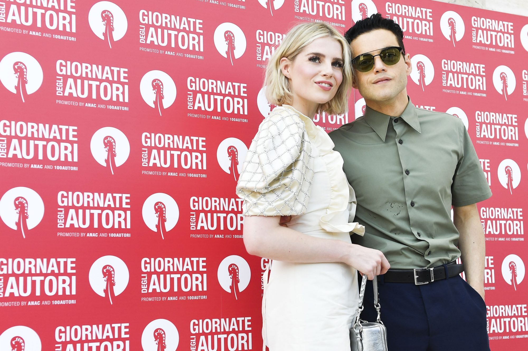 VENICE, ITALY - SEPTEMBER 01: Rami Malek and Lucy Boynton are seen arriving at the 76th Venice Film Festival on September 01, 2019 in Venice, Italy. (Photo by Jacopo Raule/GC Images,)