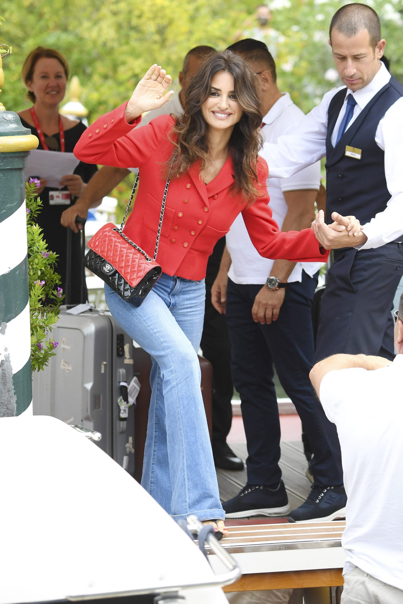 VENICE, ITALY - SEPTEMBER 02: Penelope Cruz is seen arriving at the 76th Venice Film Festival on September 02, 2019 in Venice, Italy. (Photo by Pascal Le Segretain/GC Images,)