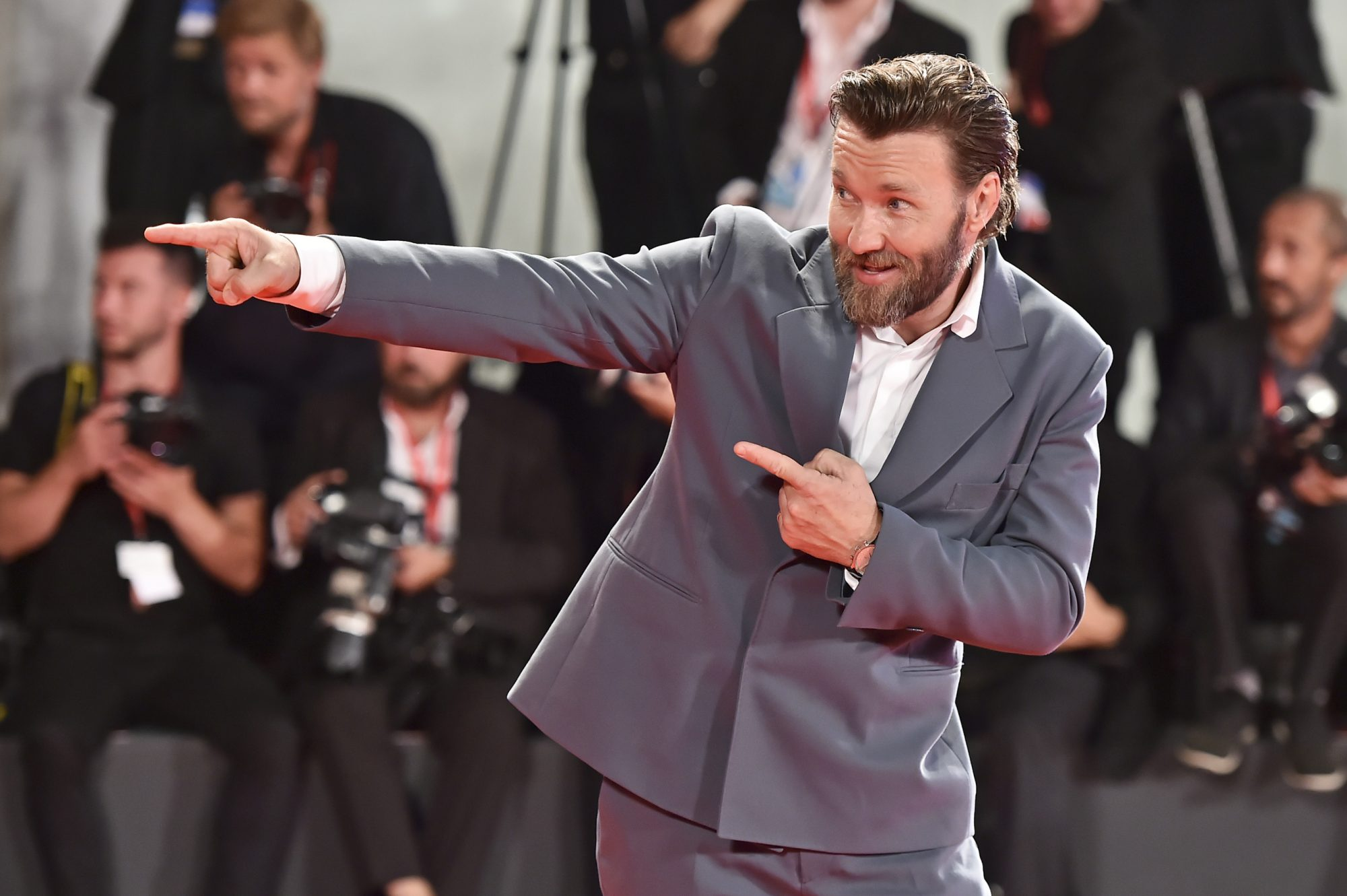 "VENICE, ITALY - SEPTEMBER 02: Joel Edgerton attends ""The King"" red carpet during the 76th Venice Film Festival at Sala Grande on September 02, 2019 in Venice, Italy. (Photo by Theo Wargo/Getty Images)"