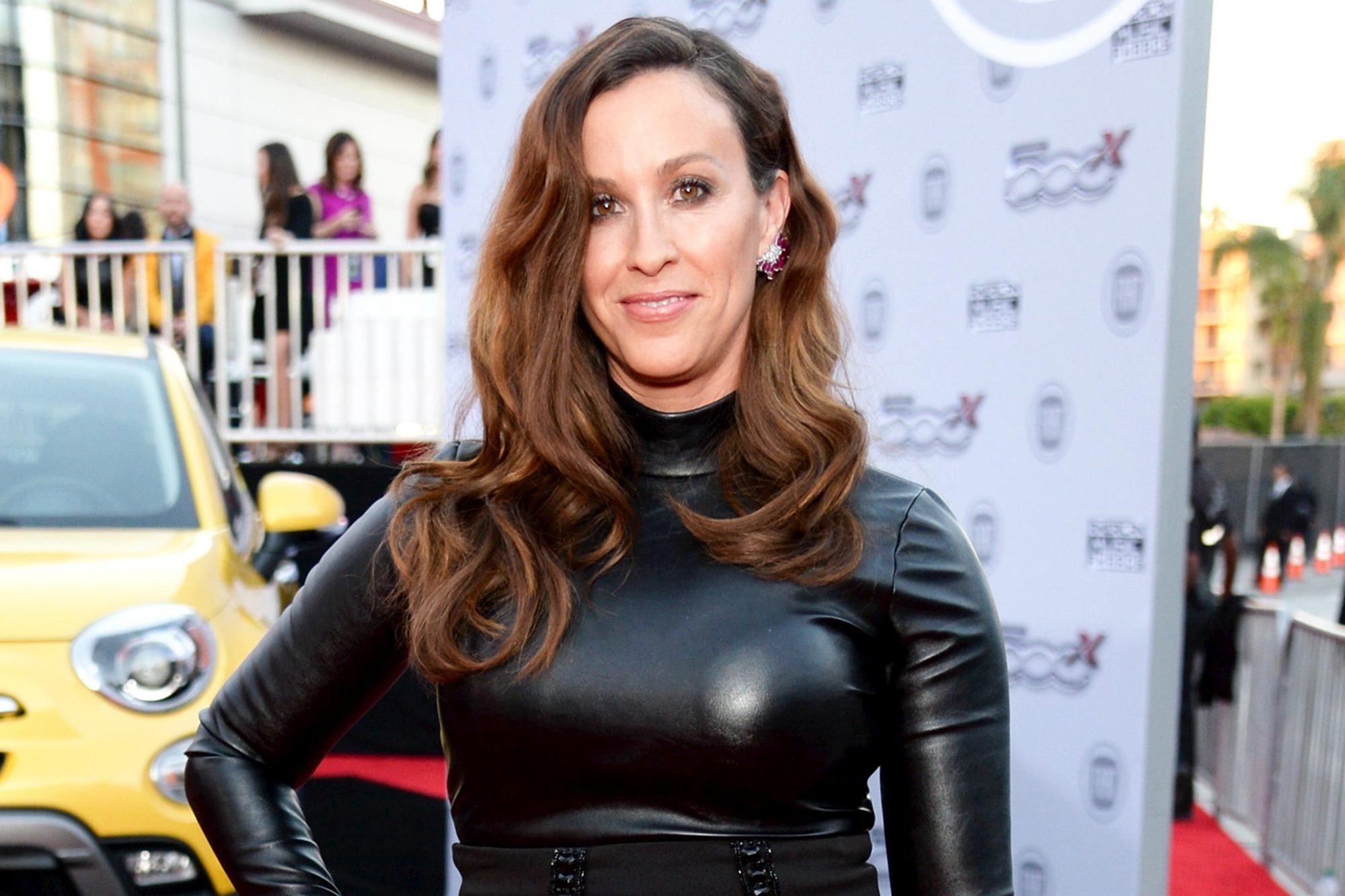 LOS ANGELES, CA - NOVEMBER 22: Recording artist Alanis Morissette attends the 2015 American Music Awards red carpet arrivals sponsored by FIAT 500X at LA Live on November 22, 2015 in Los Angeles, California. (Photo by Michael Kovac/AMA2015/Getty Images for FIAT)